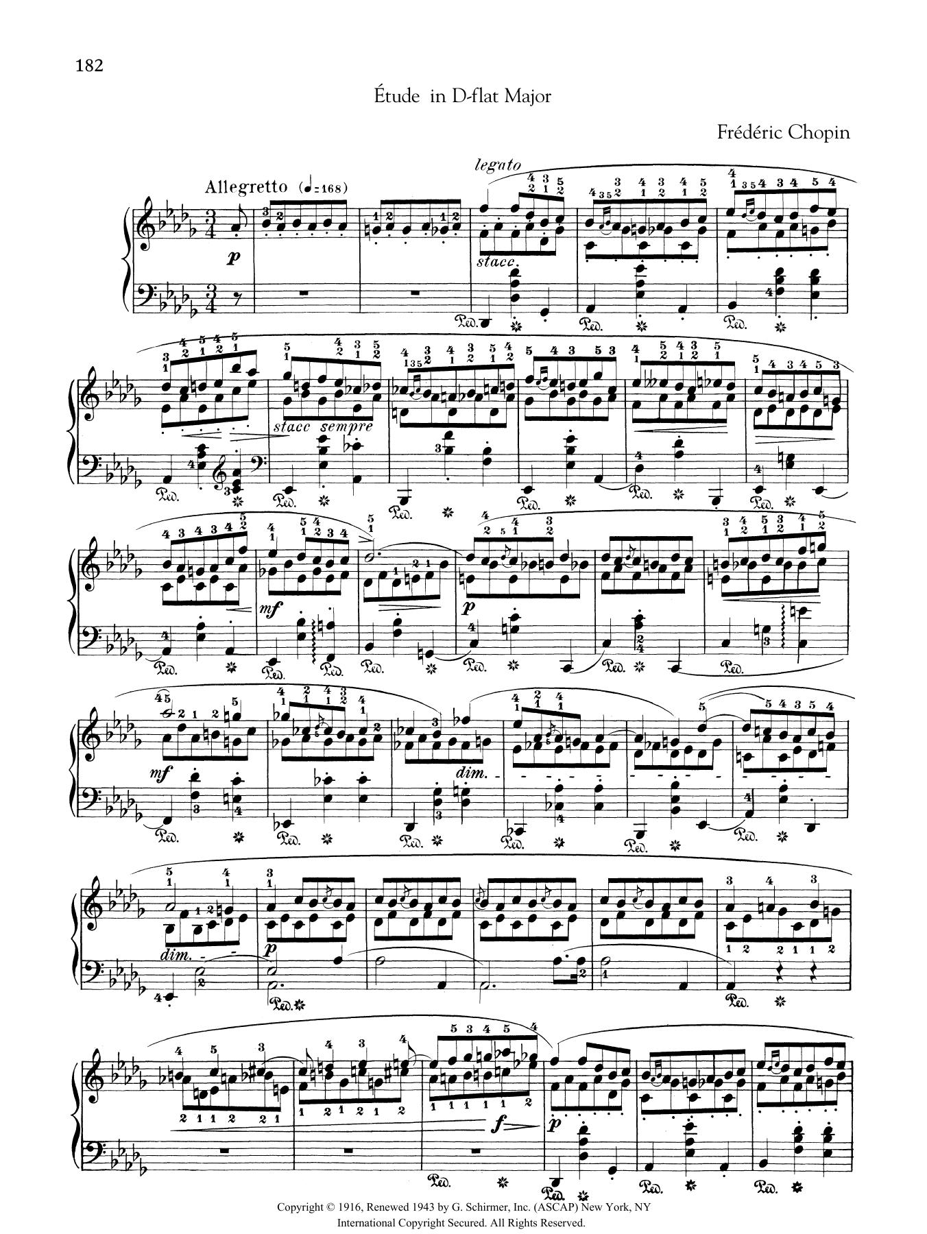 Etude in D-flat Major, from Trois Nouvelles Etudes from Methode des methodes de piano Sheet Music