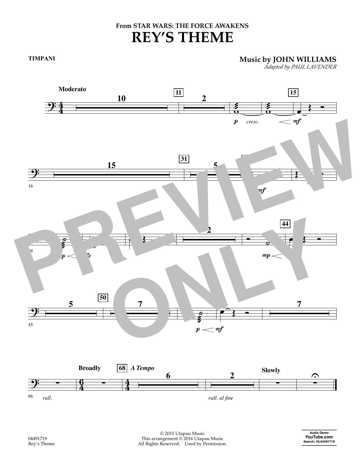Rey's Theme - Timpani (Orchestra)