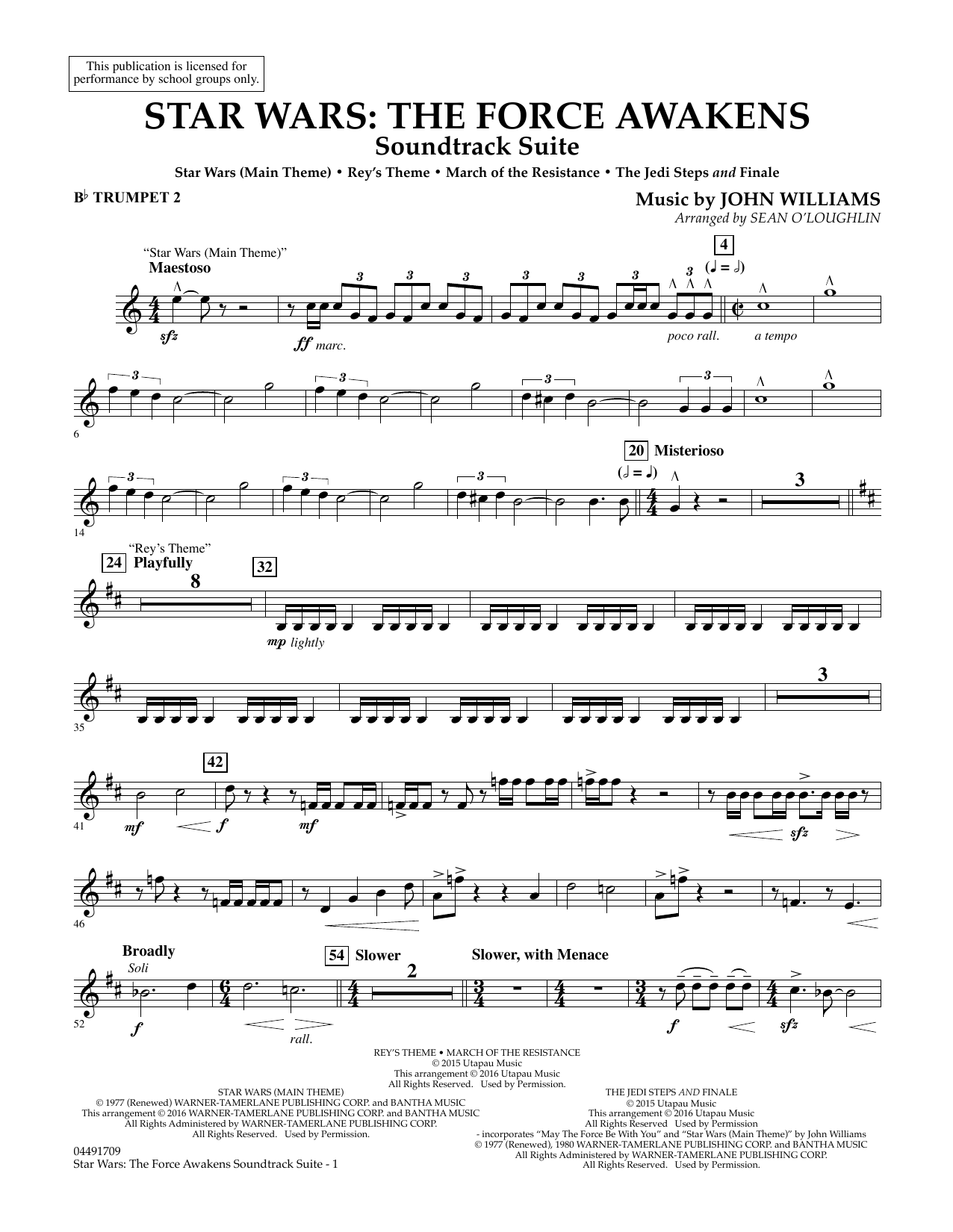 Star Wars: The Force Awakens Soundtrack Suite - Bb Trumpet 2 (Full Orchestra)