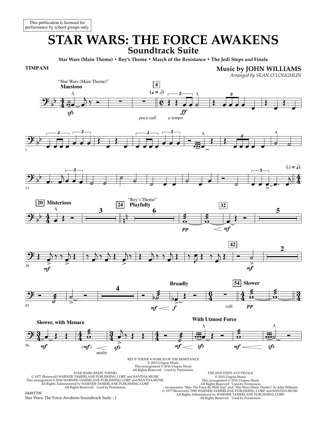 Star Wars: The Force Awakens Soundtrack Suite - Timpani (Full Orchestra)