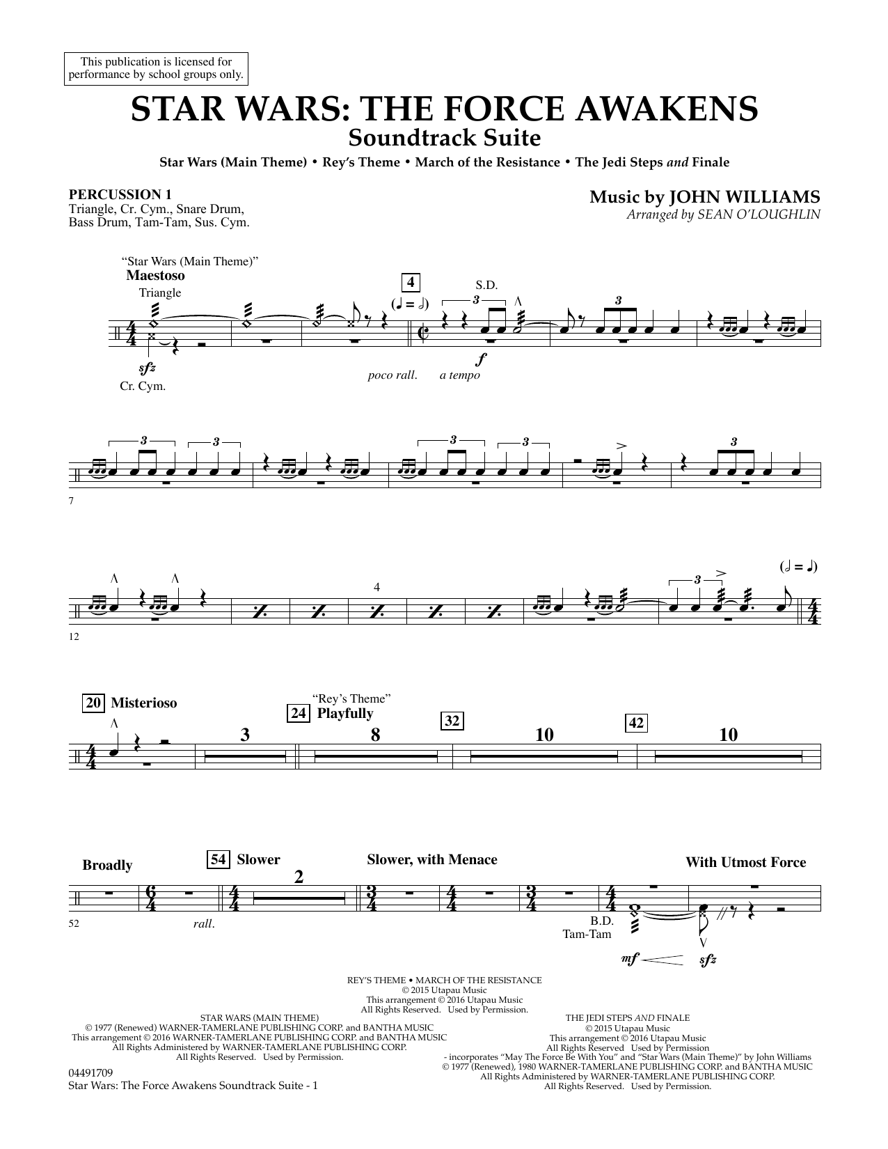 Star Wars: The Force Awakens Soundtrack Suite - Percussion 1 (Full Orchestra)