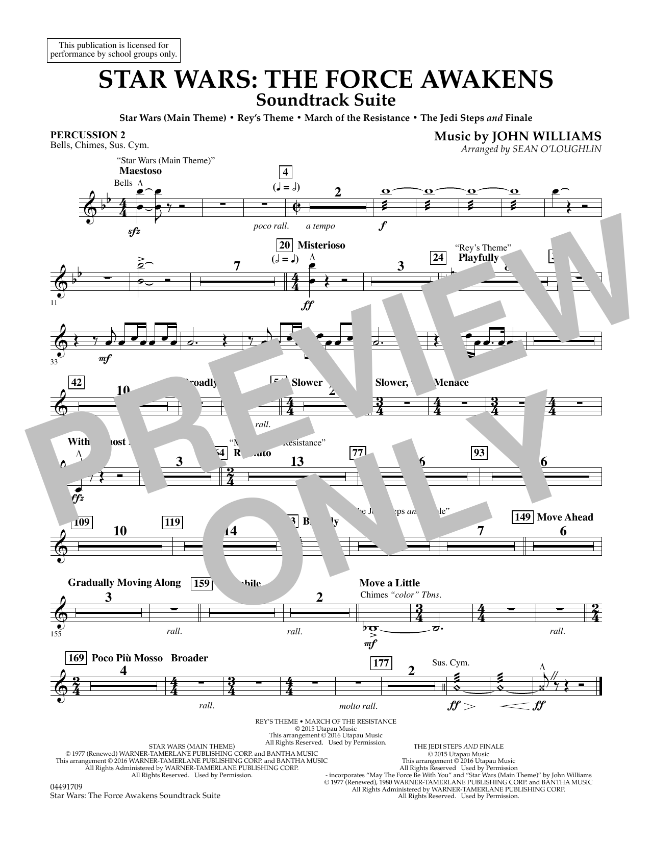 Star Wars: The Force Awakens Soundtrack Suite - Percussion 2 (Full Orchestra)