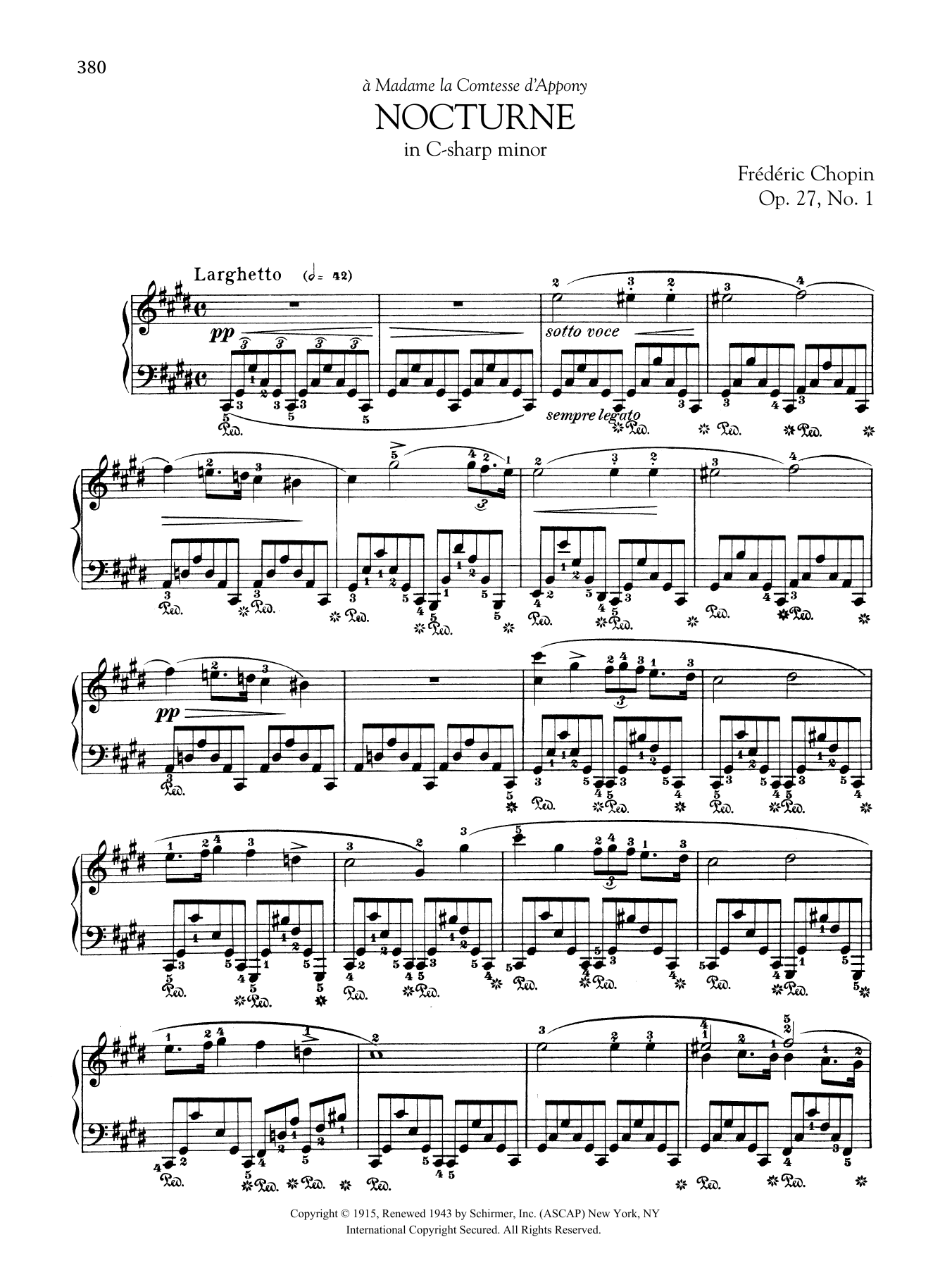 Nocturne in C-sharp minor, Op. 27, No. 1 Sheet Music