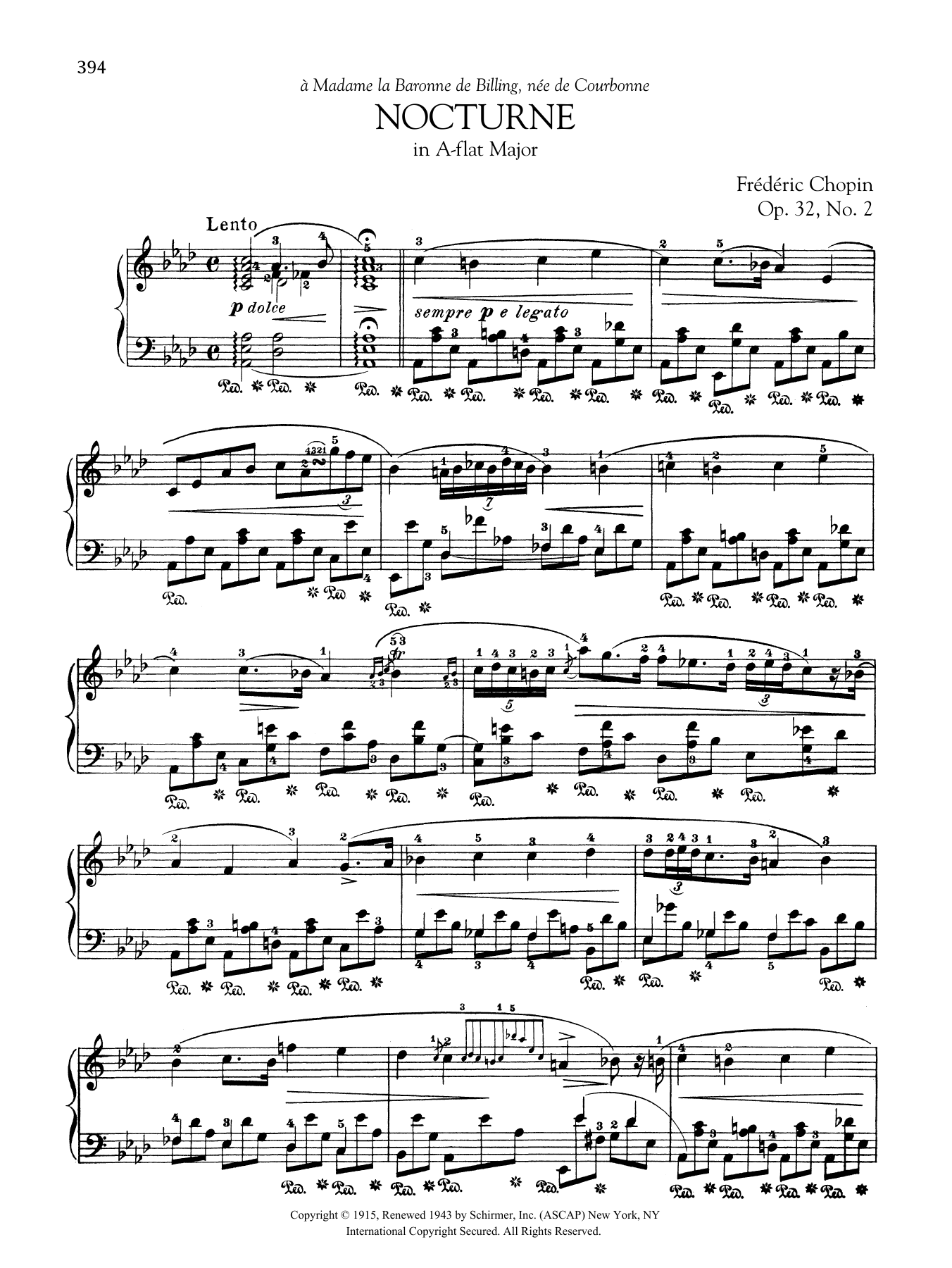 Nocturne in A-flat Major, Op. 32, No. 2 Sheet Music