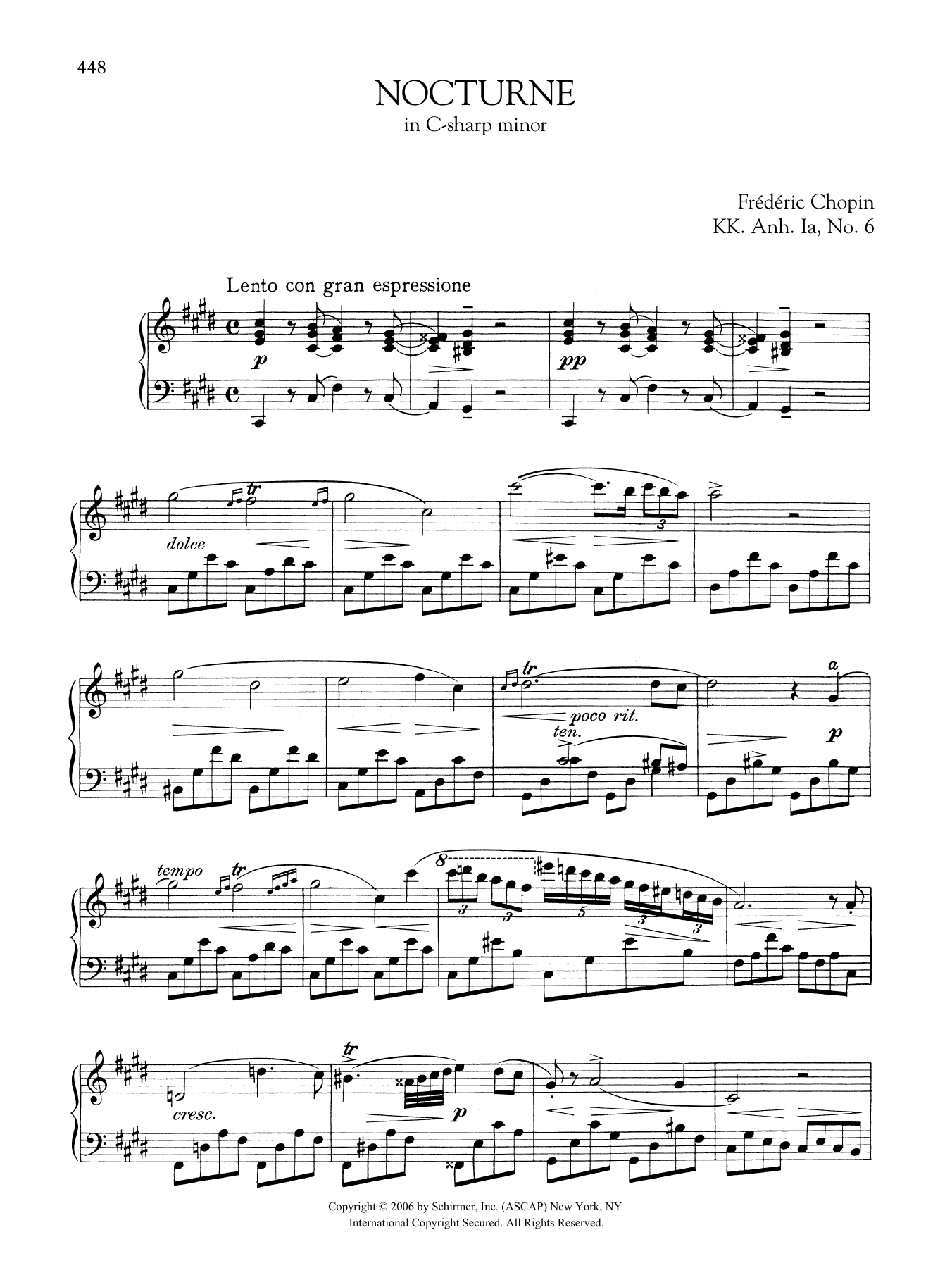 Nocturne in C-sharp minor, KK. Anh. Ia, No. 6 Sheet Music
