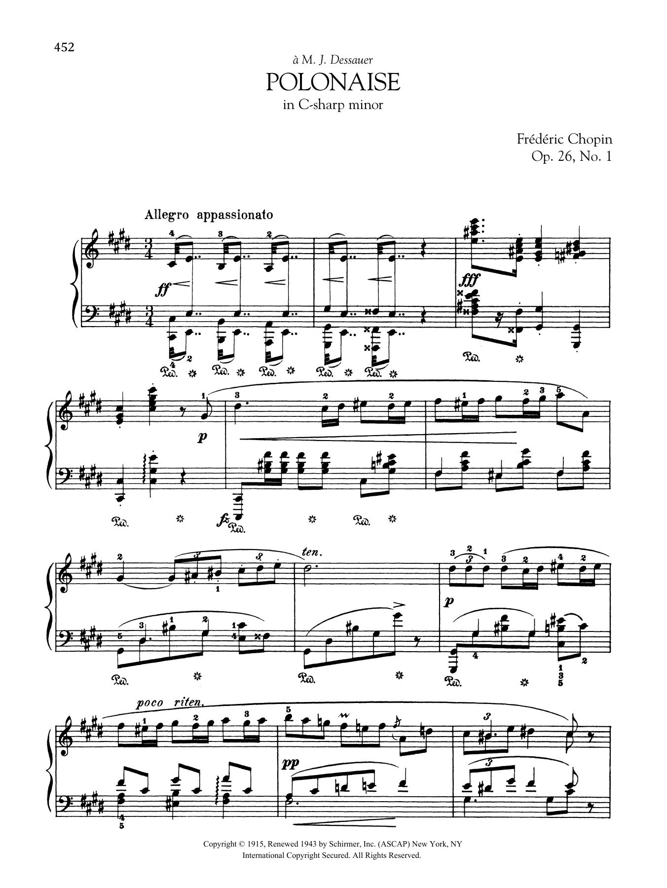 Polonaise In C Sharp Minor Op 26 No 1 Frederic Chopin Piano Solo