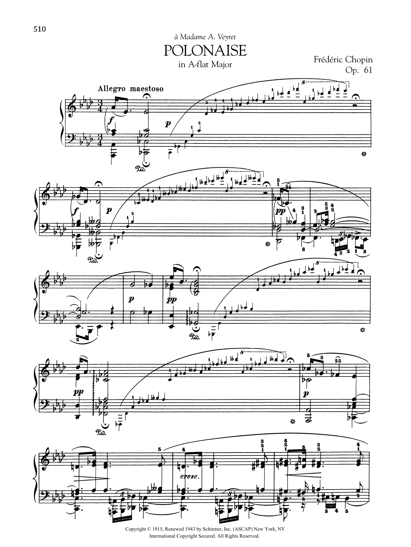 Polonaise in A-flat Major, Op. 61 Sheet Music