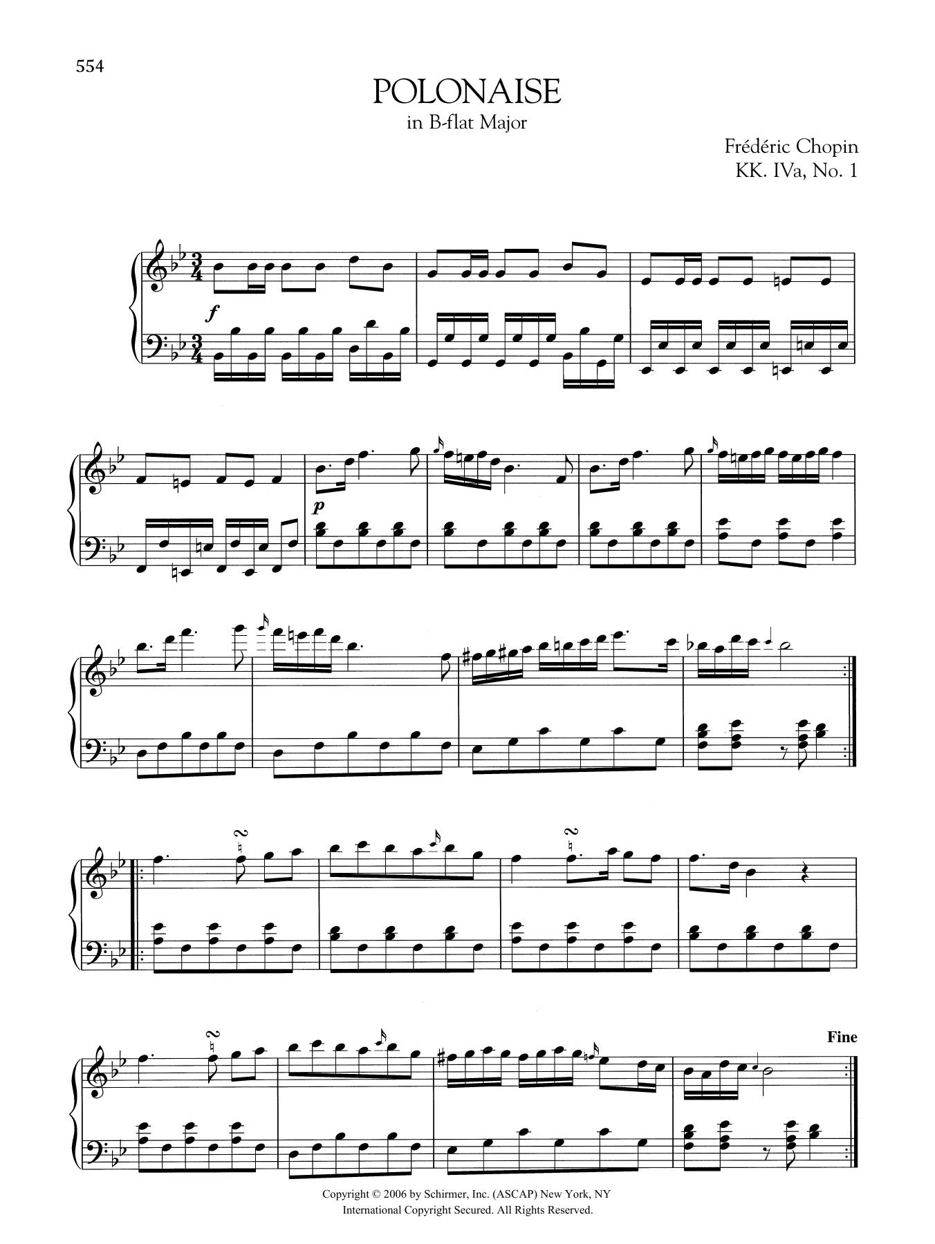 Polonaise in B-flat Major, KK. IVa, No. 1 Sheet Music