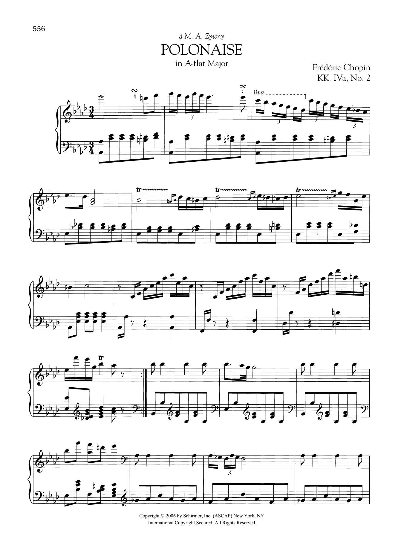 Polonaise in A-flat Major, KK. IVa, No. 2 Sheet Music