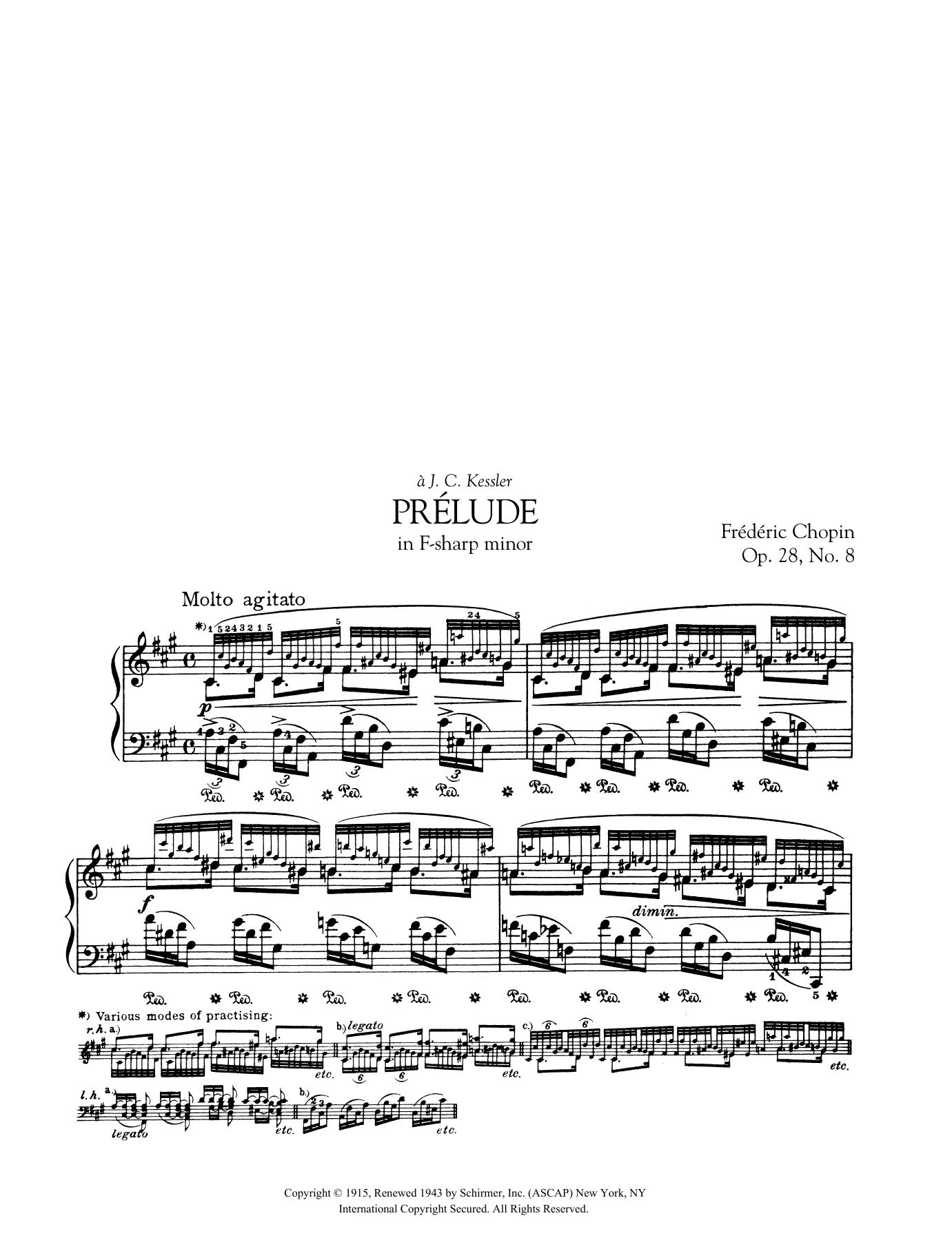 Prélude in F-sharp minor, Op. 28, No. 8 Sheet Music