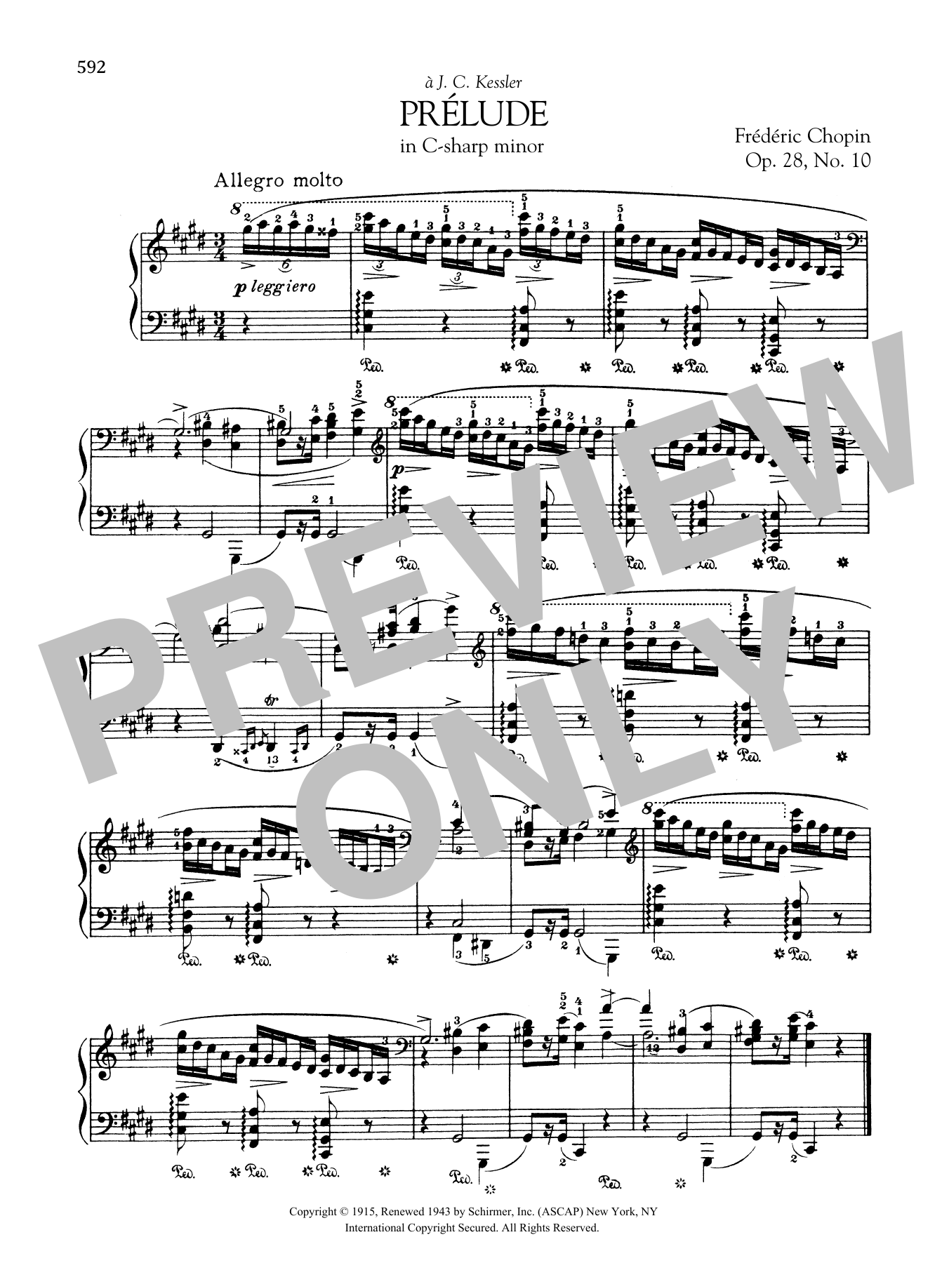 Prélude in C-sharp minor, Op. 28, No. 10 Sheet Music