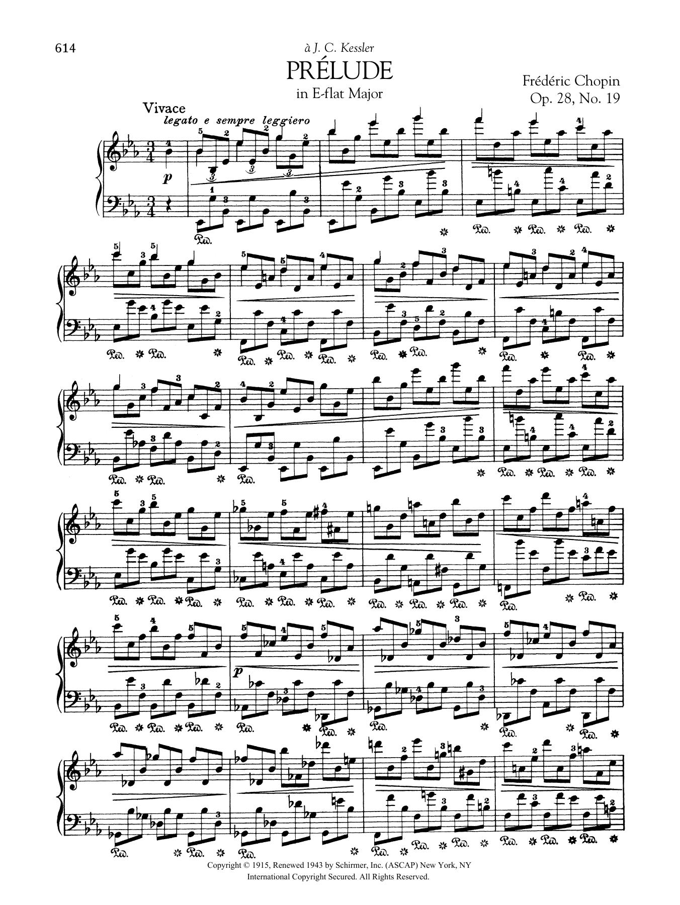 Prélude in E-flat Major, Op. 28, No. 19 Sheet Music