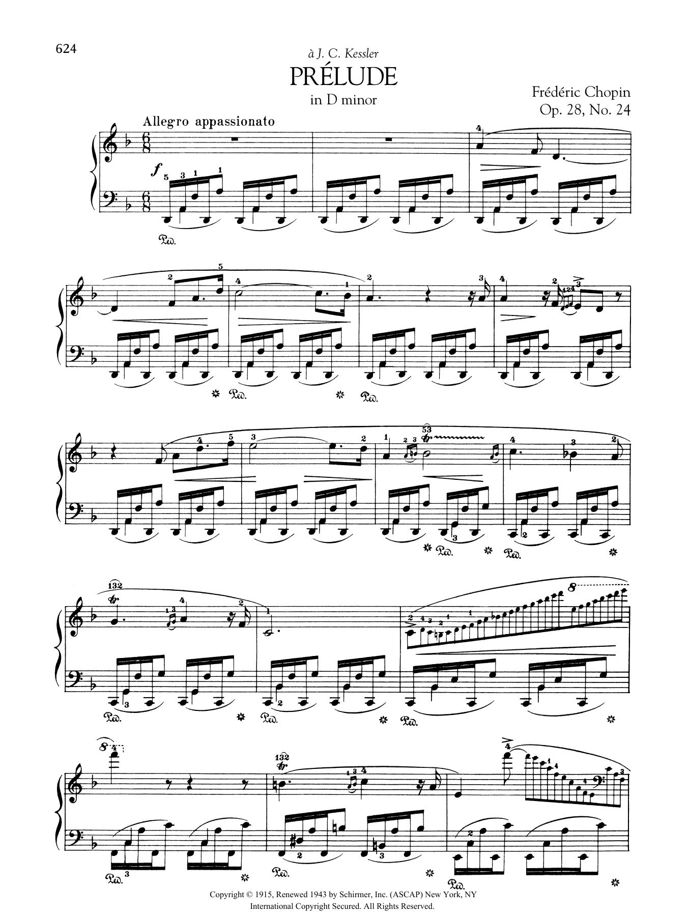 Prélude in D minor, Op. 28, No. 24 Sheet Music