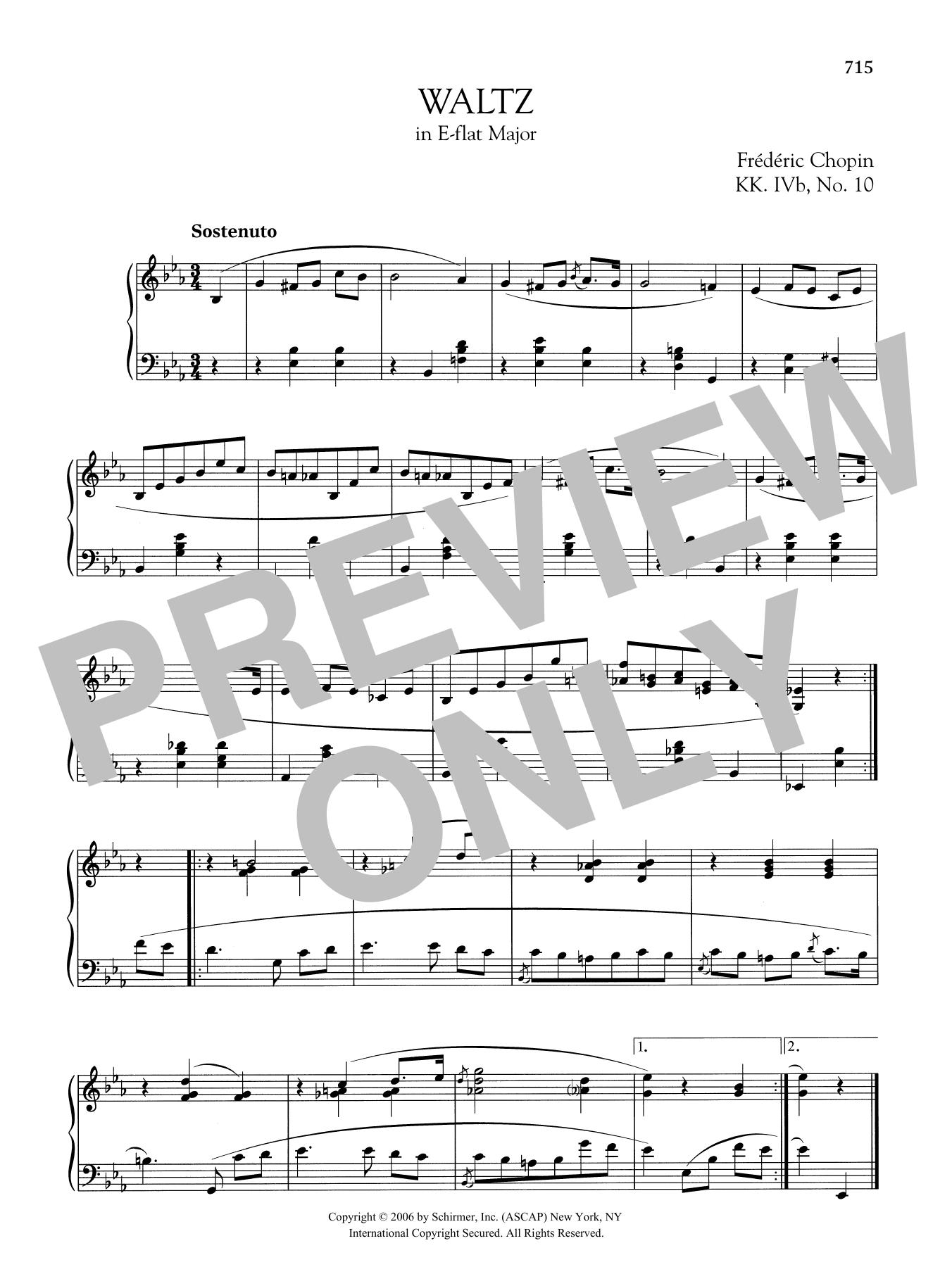 Waltz in E-flat Major, KK. IVb, No. 10 Sheet Music