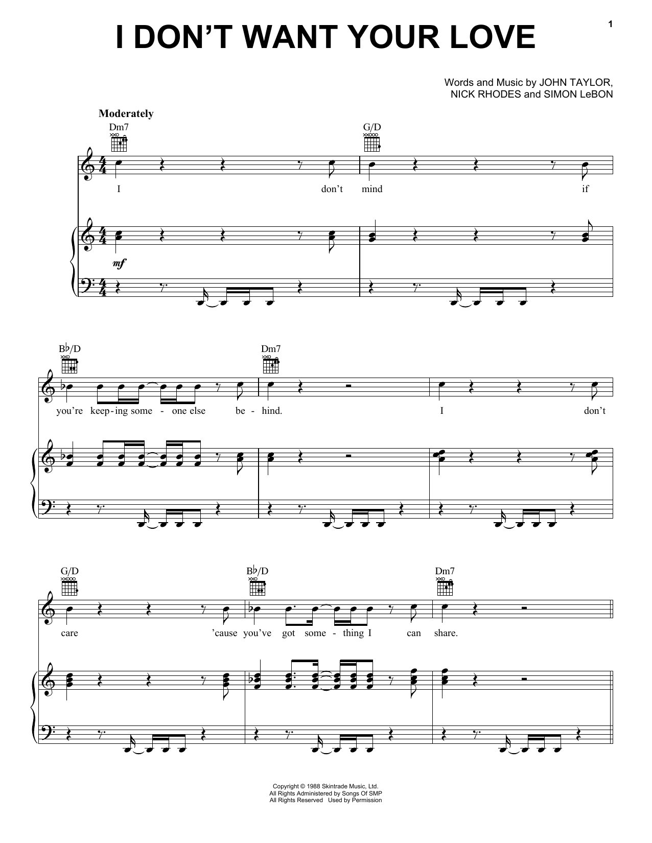 how to play planet earth duran duran piano