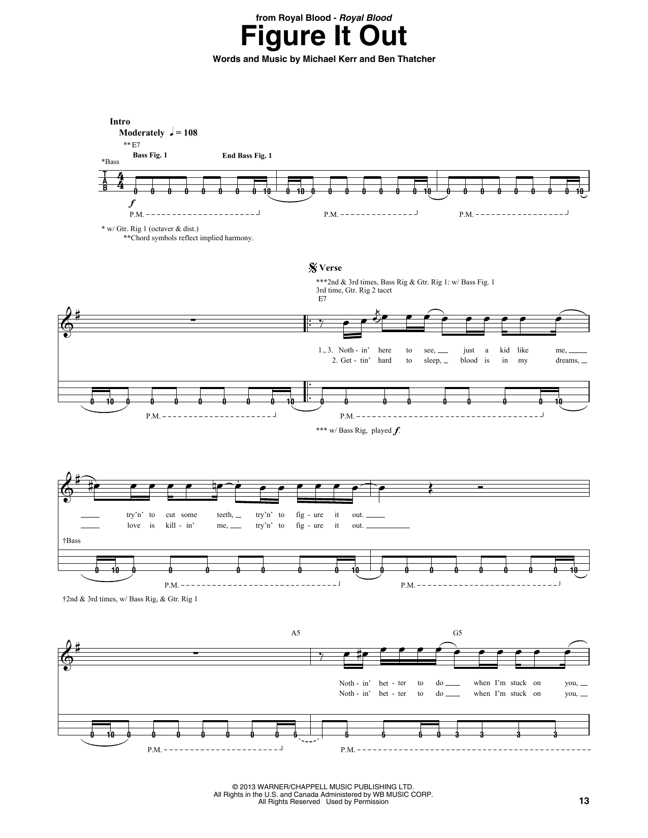 Figure It Out (Bass Guitar Tab)