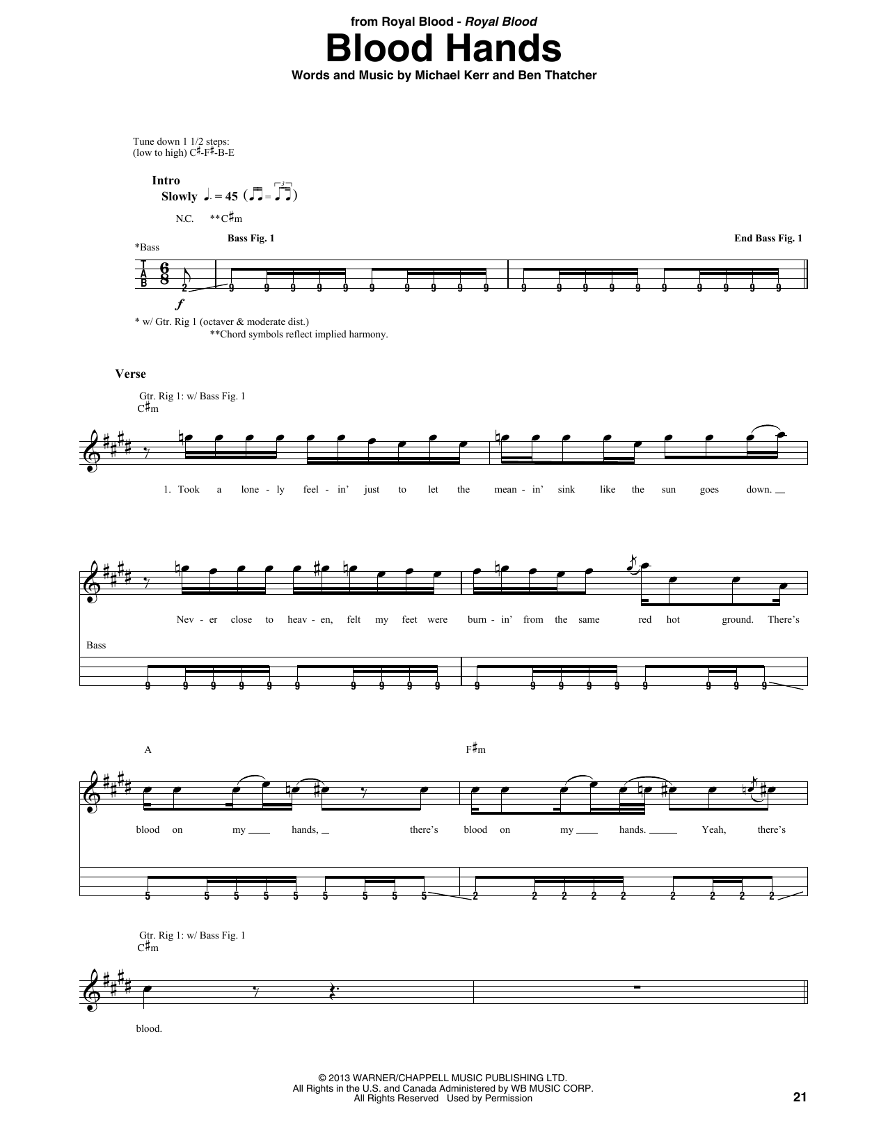 Blood Hands Sheet Music