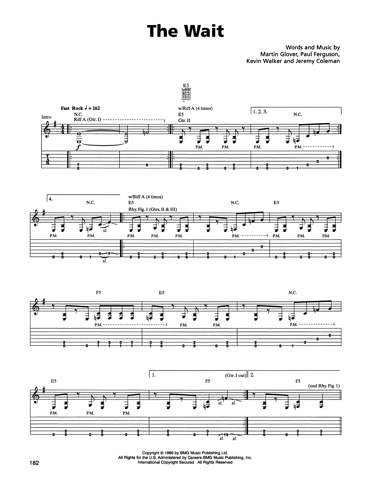 The Wait Sheet Music