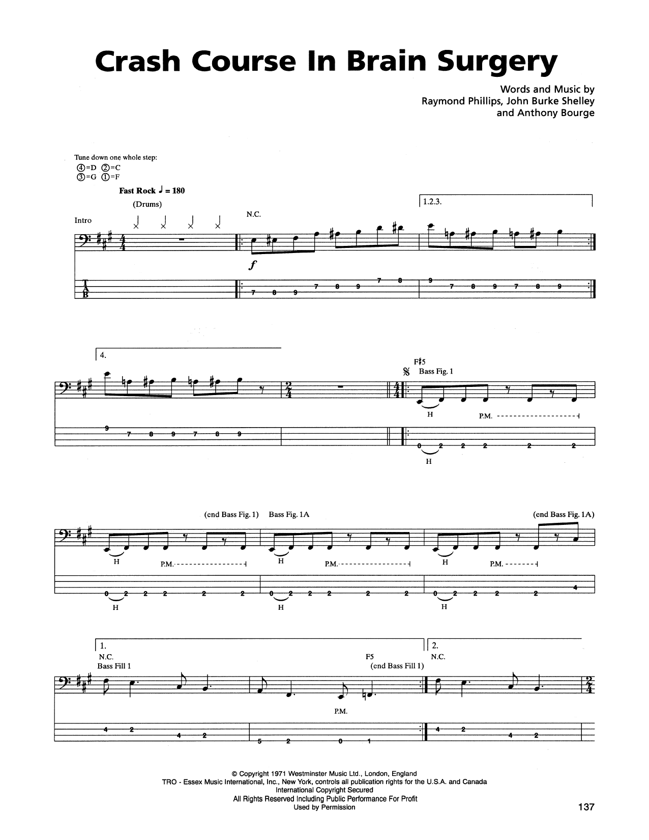 Crash Course In Brain Surgery Sheet Music