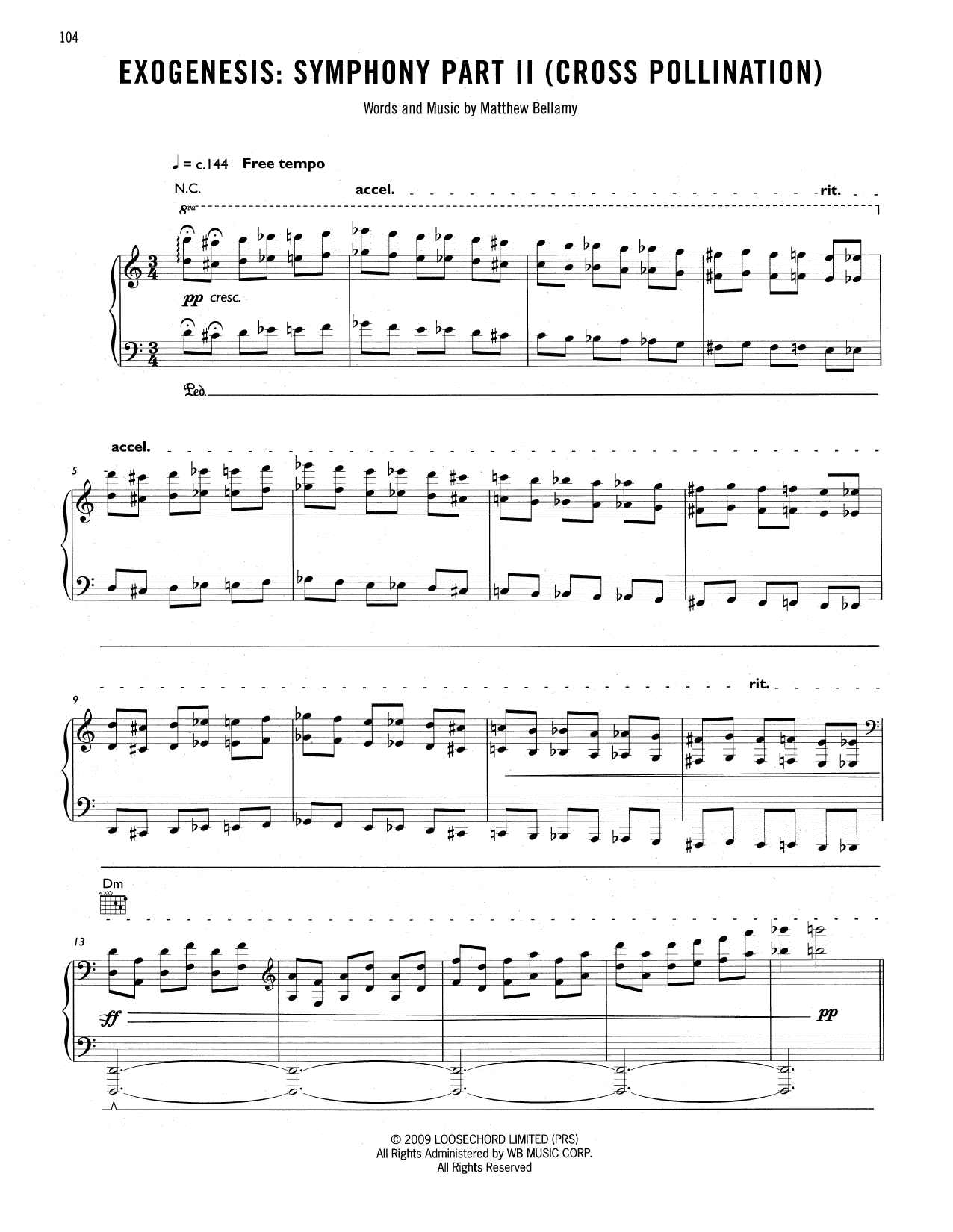 Exogenesis: Symphony Part II (Cross Pollination) Sheet Music