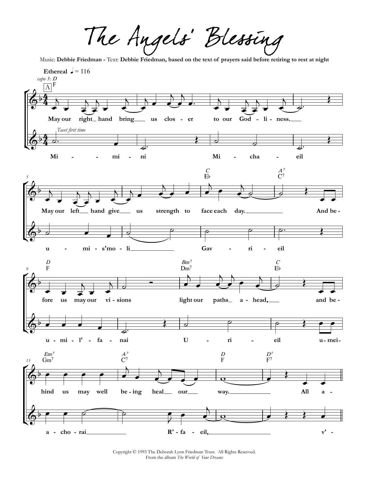 The Angels' Blessing Sheet Music