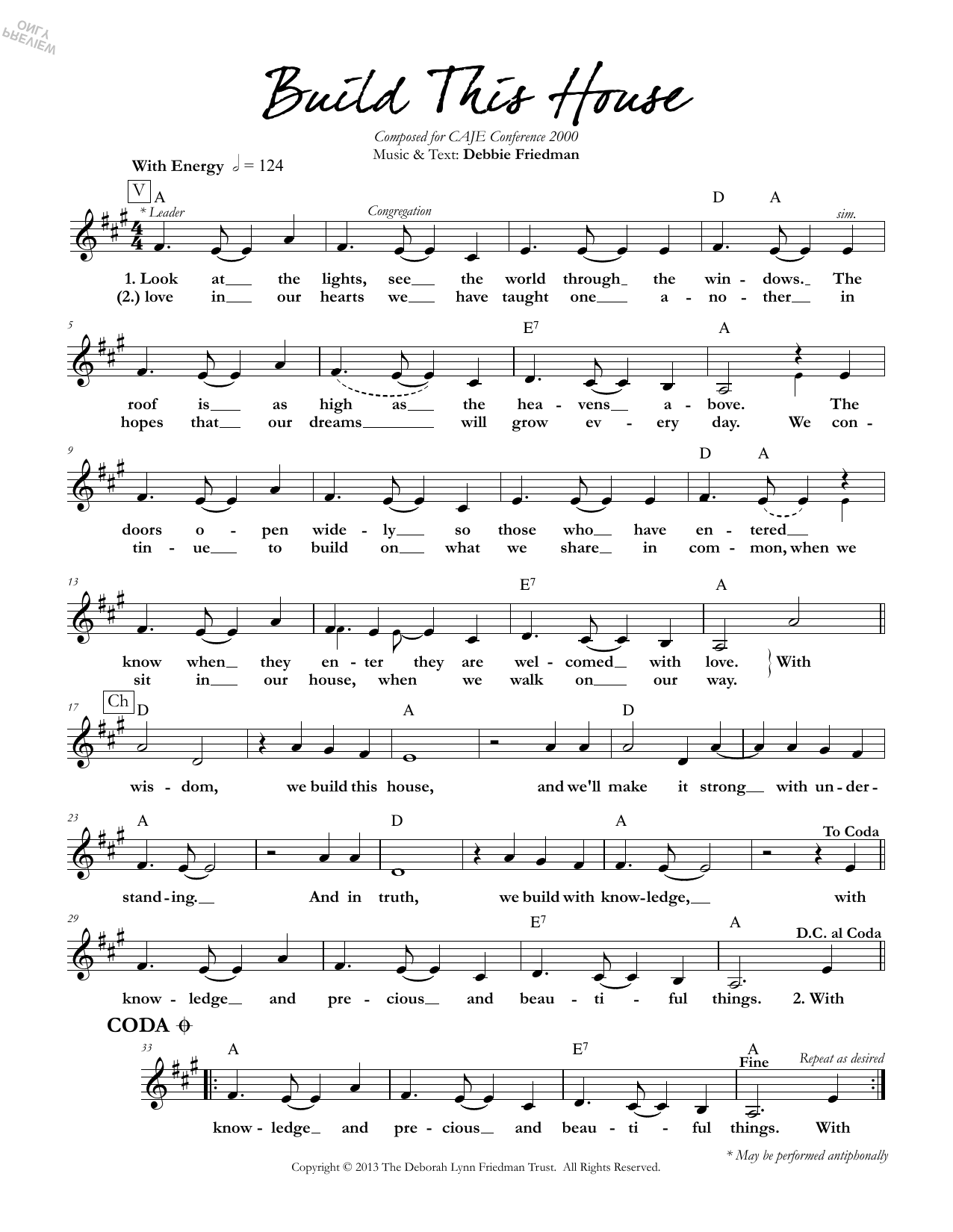 Build This House Sheet Music