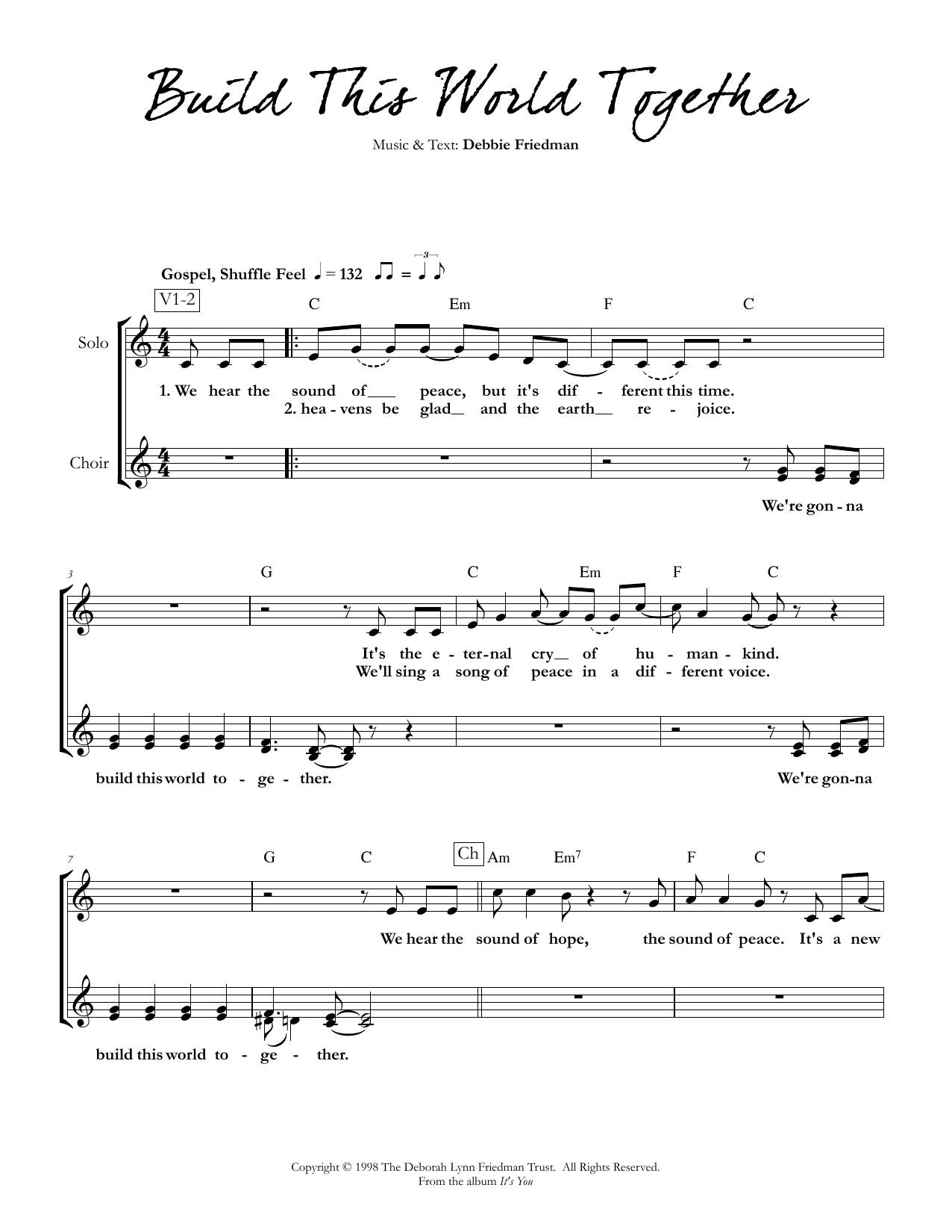 Build This World Together Sheet Music
