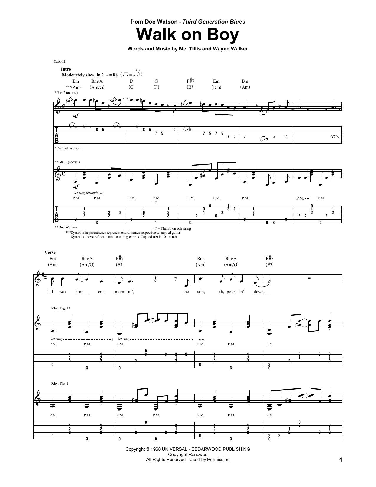 Walk On Boy (Guitar Tab)