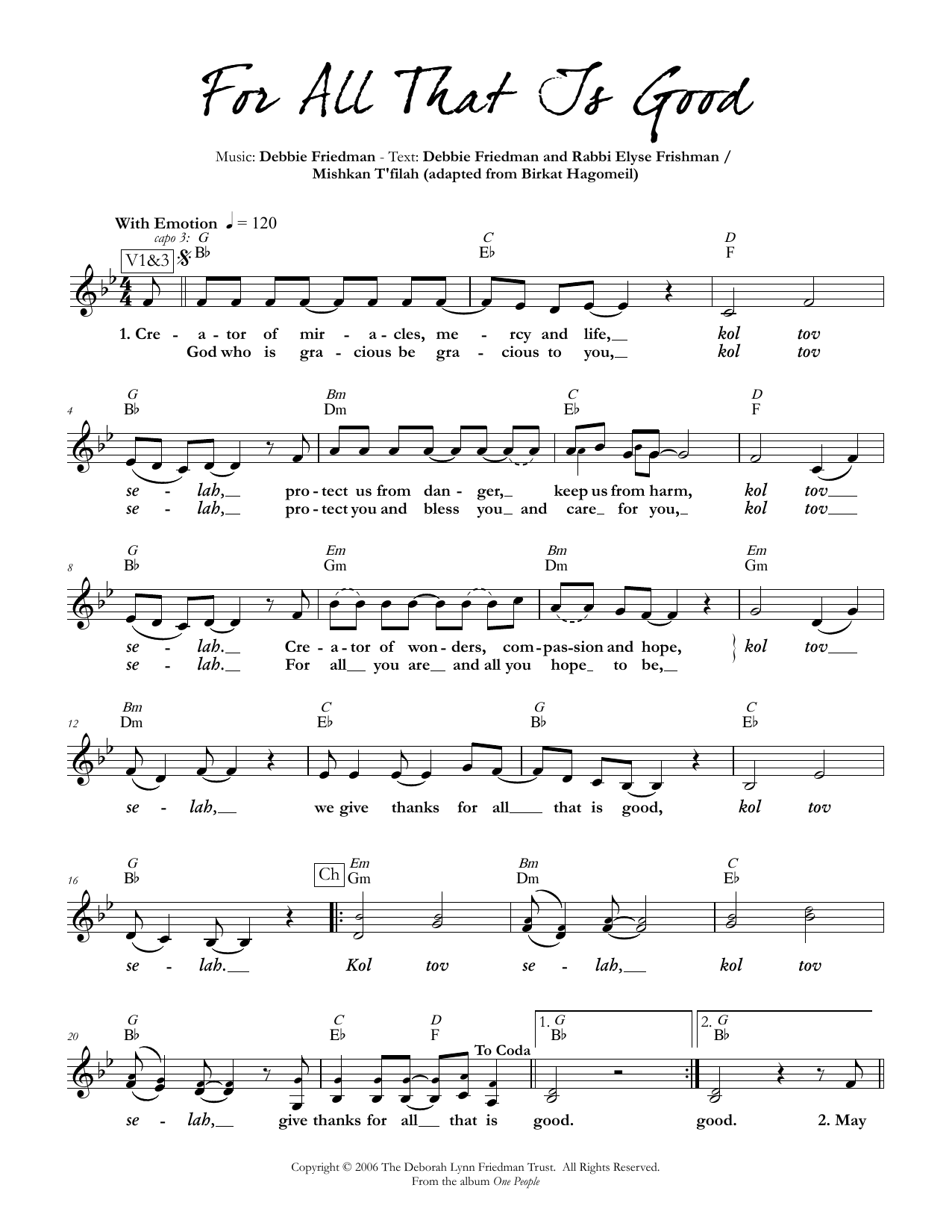 For All That Is Good Sheet Music