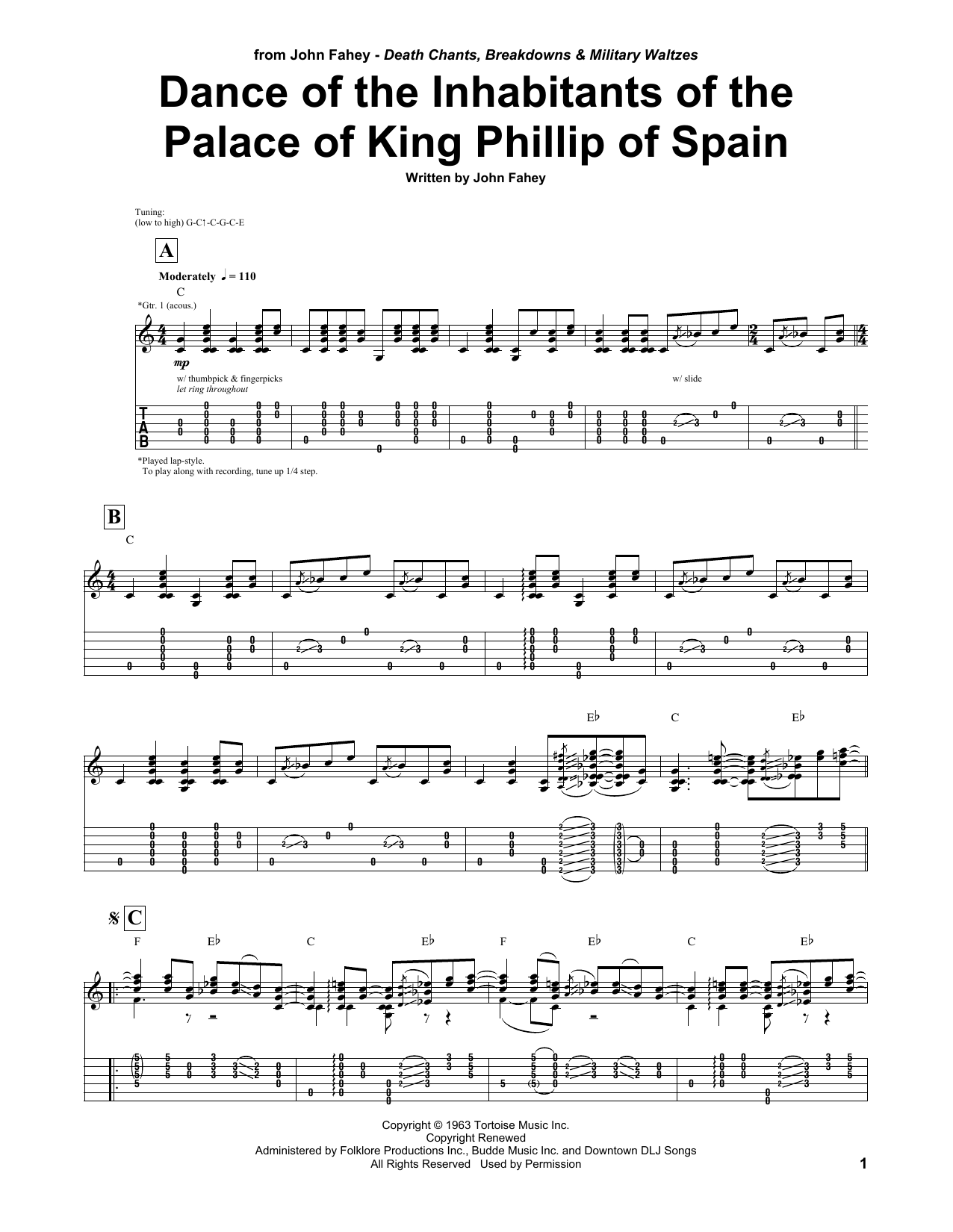Dance Of The Inhabitants Of The Palace Of King Philip Of Spain Sheet Music