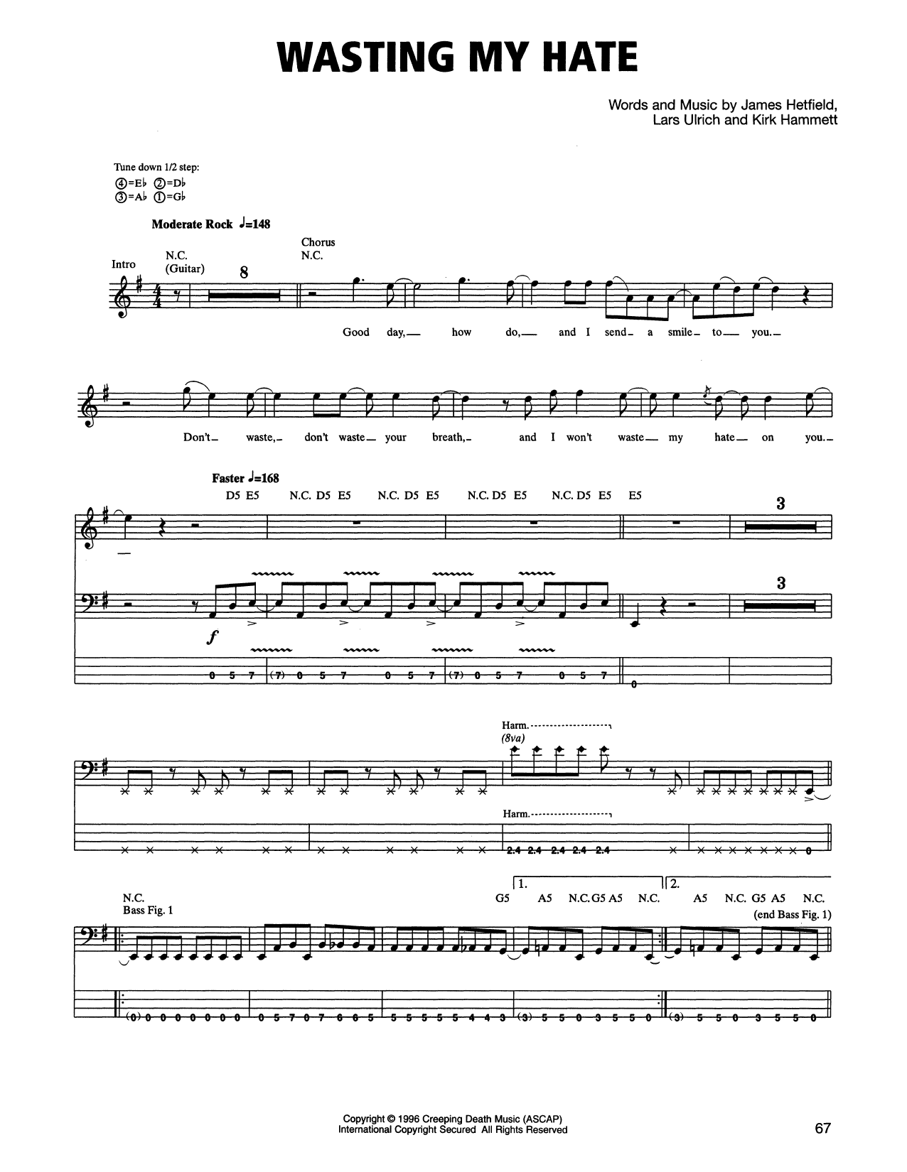 Wasting My Hate Sheet Music