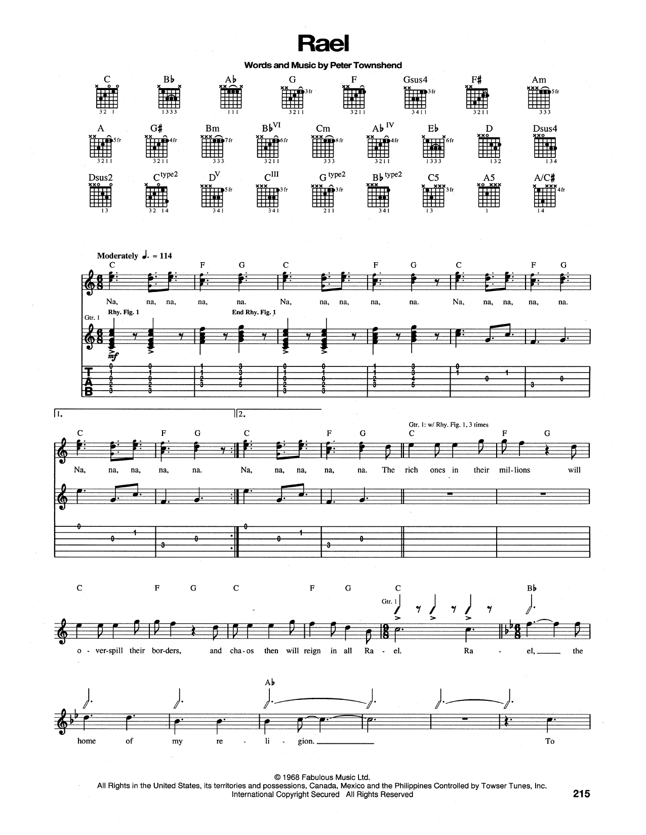 Rael Sheet Music