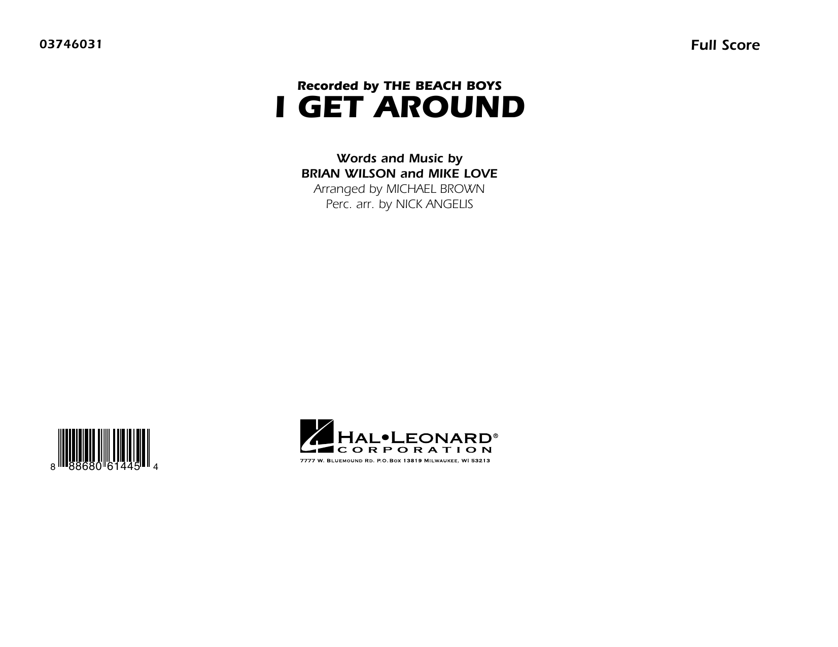 I Get Around (COMPLETE) sheet music for marching band by The Beach Boys, Brian Wilson, Michael Brown and Mike Love. Score Image Preview.