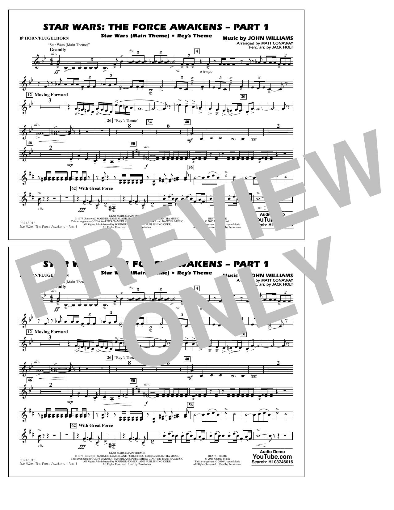 Star Wars: The Force Awakens - Part 1 - Bb Horn/Flugelhorn (Marching Band)