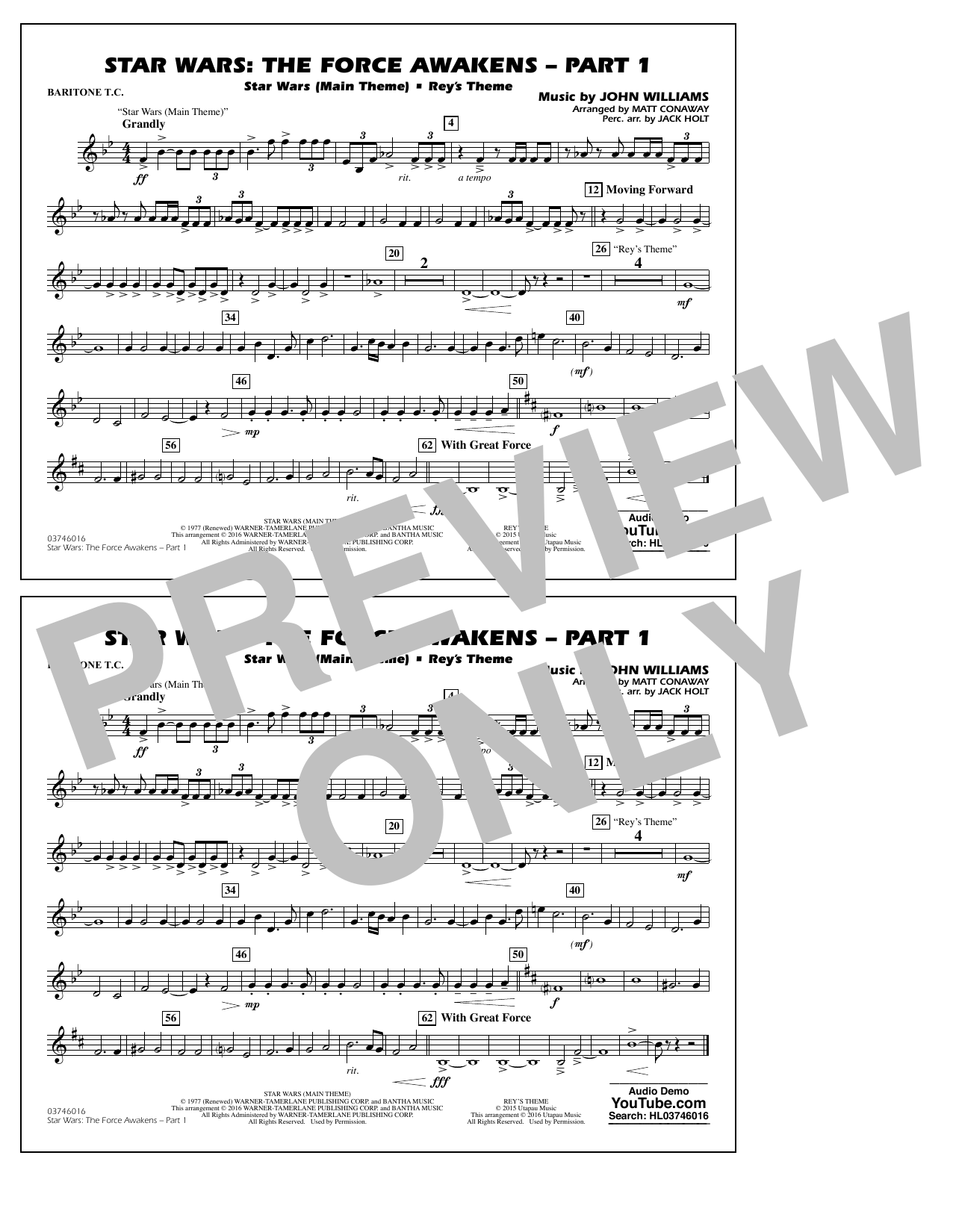 Star Wars: The Force Awakens - Part 1 - Baritone T.C. (Marching Band)
