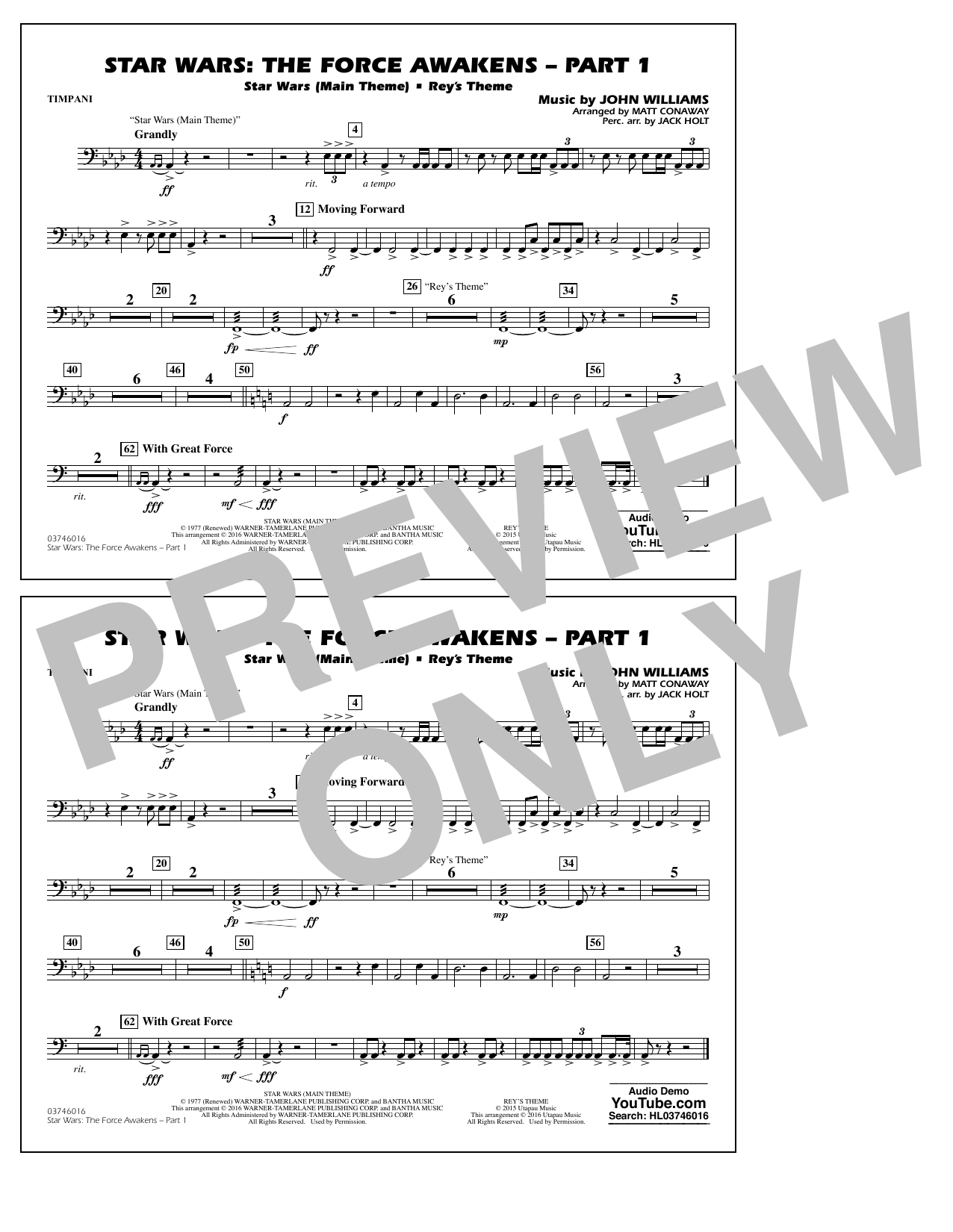 Star Wars: The Force Awakens - Part 1 - Timpani (Marching Band)