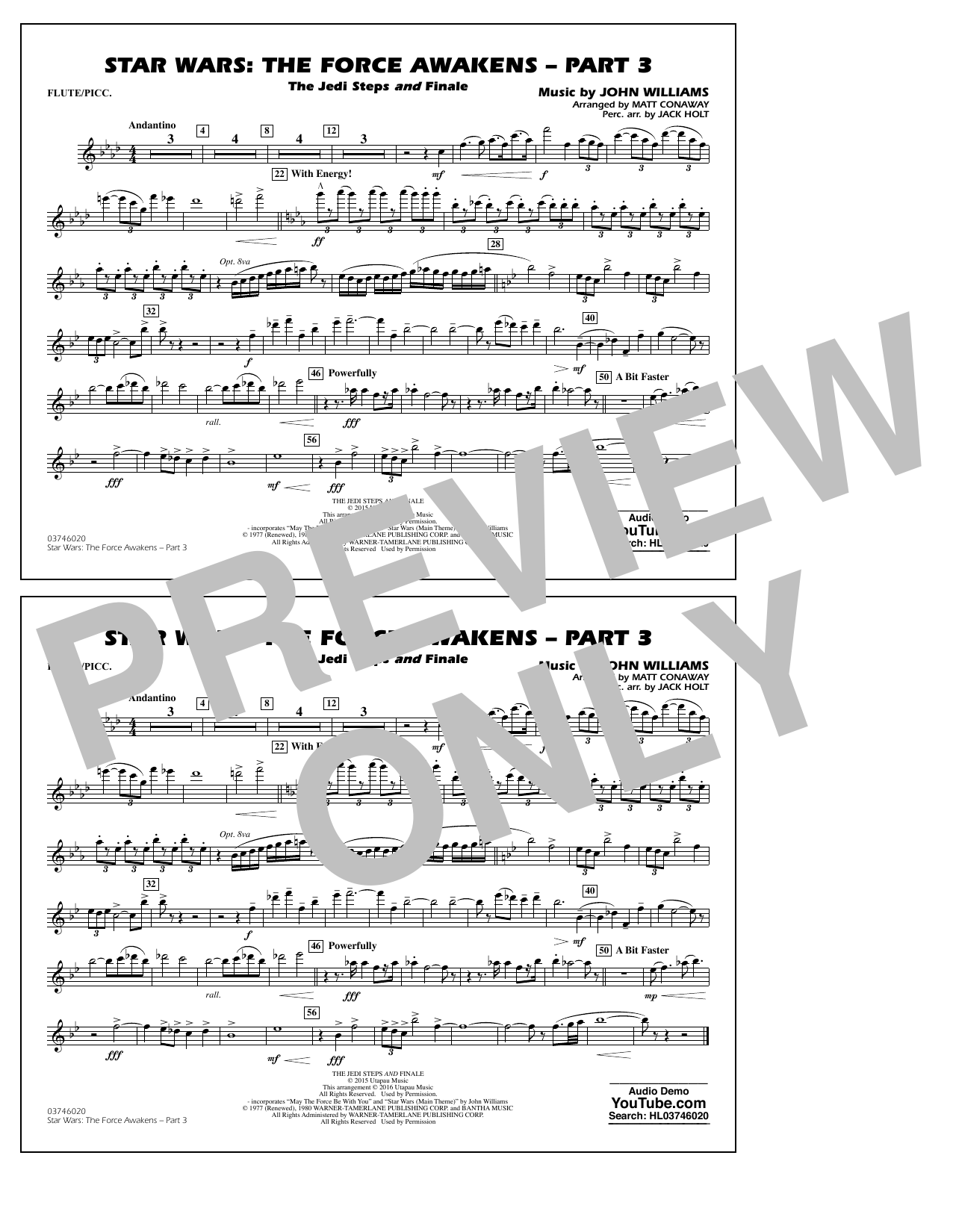Star Wars: The Force Awakens - Part 3 - Flute/Piccolo (Marching Band)