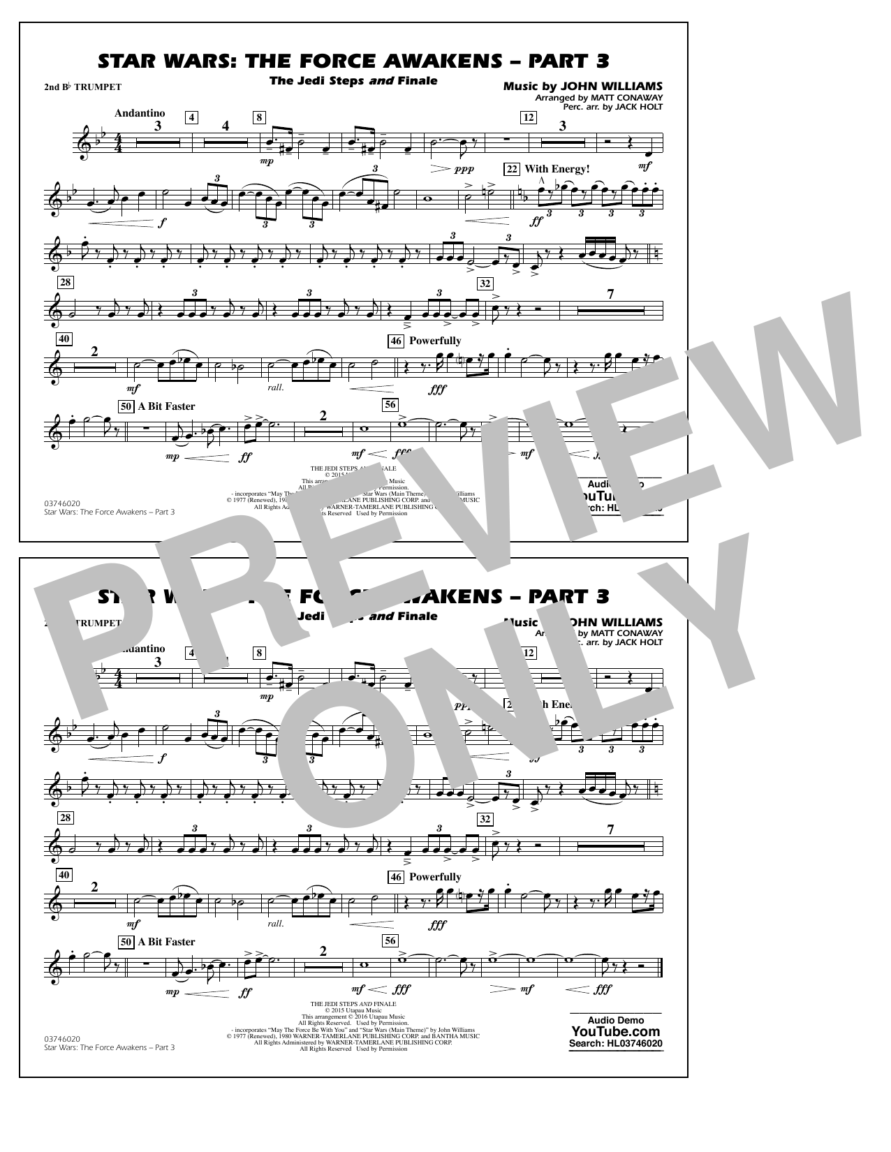 Star Wars: The Force Awakens - Part 3 - 2nd Bb Trumpet (Marching Band)