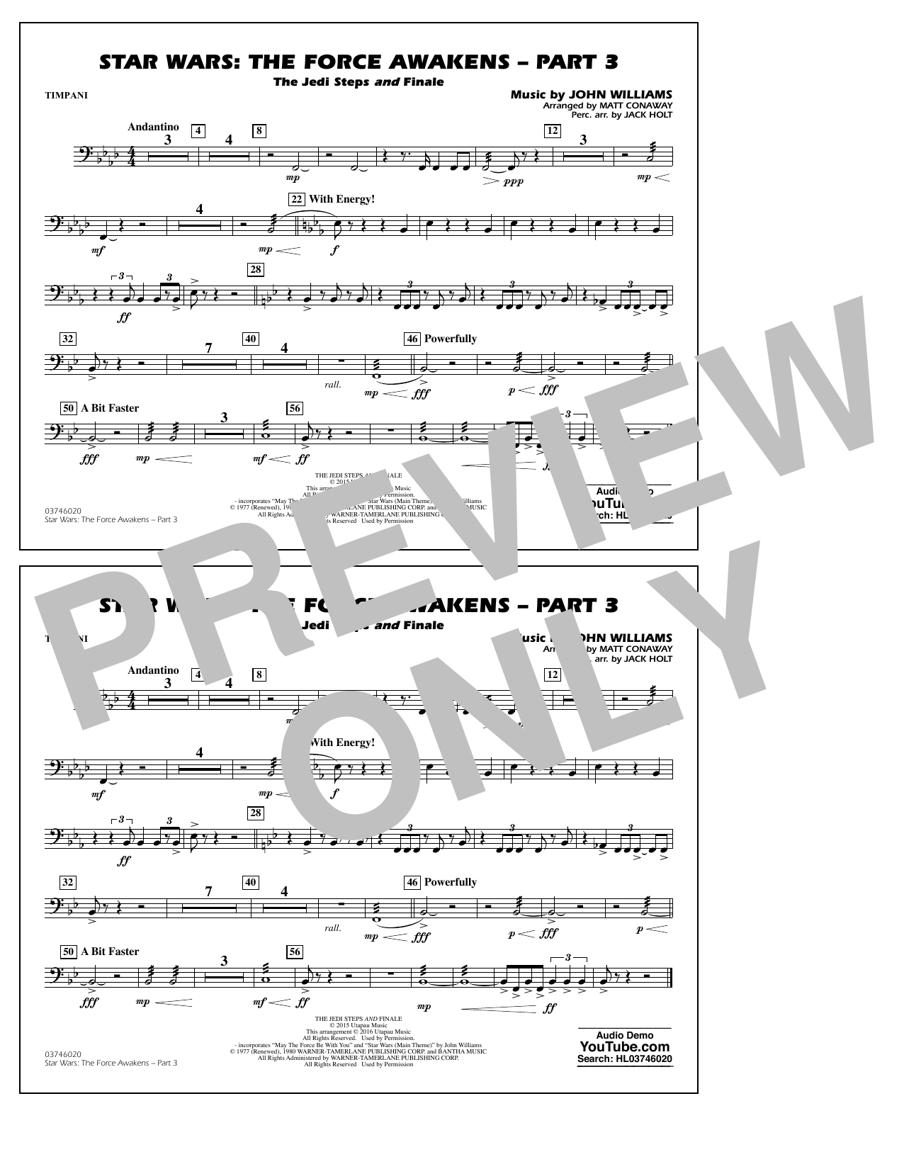 Star Wars: The Force Awakens - Part 3 - Timpani (Marching Band)