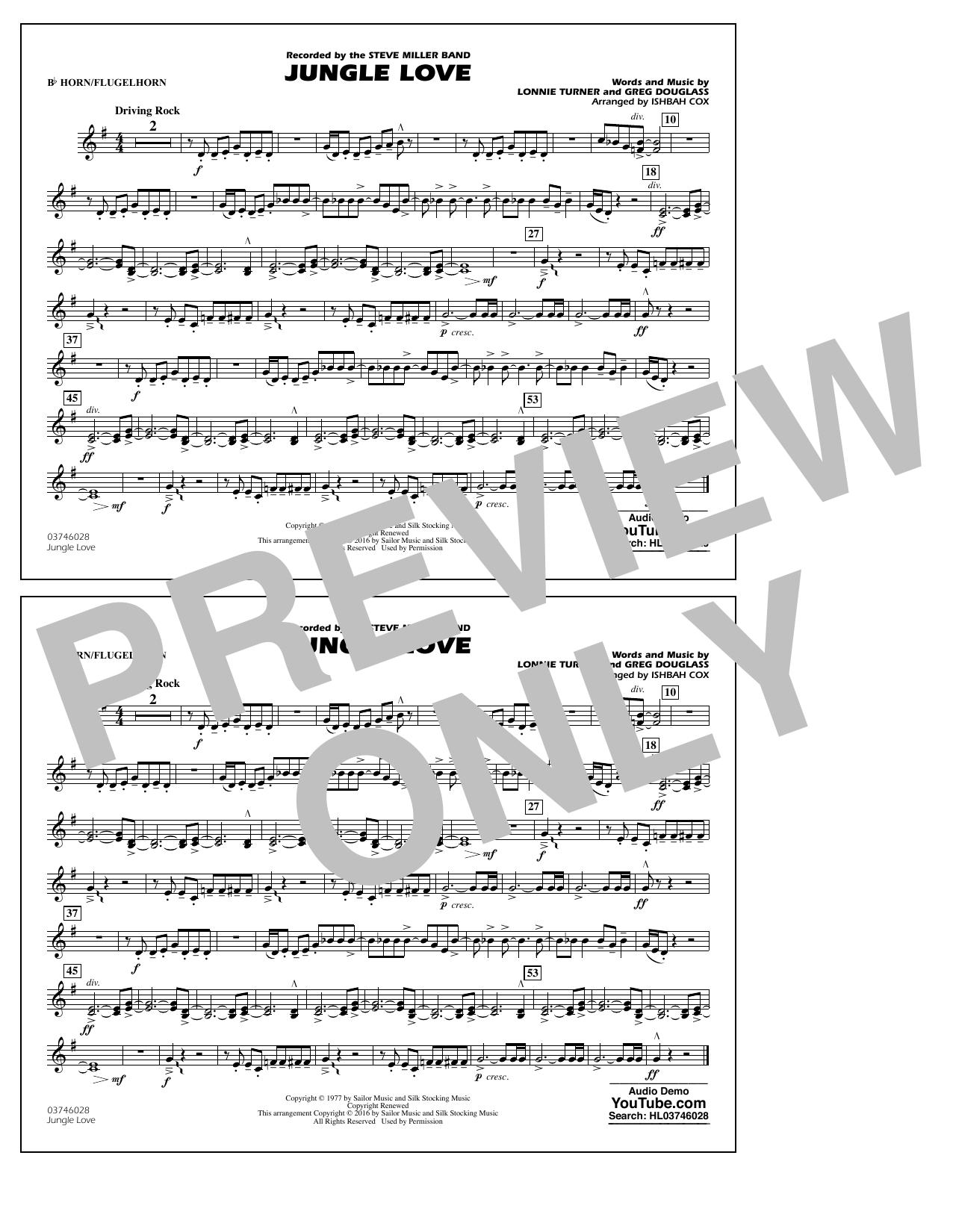 Jungle Love - Bb Horn/Flugelhorn (Marching Band)