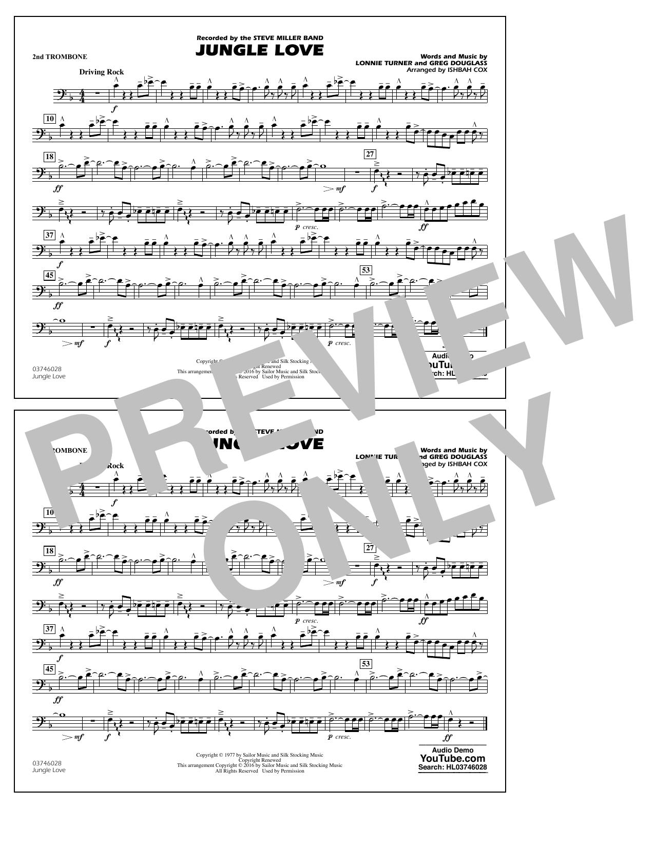 Jungle Love - 2nd Trombone (Marching Band)