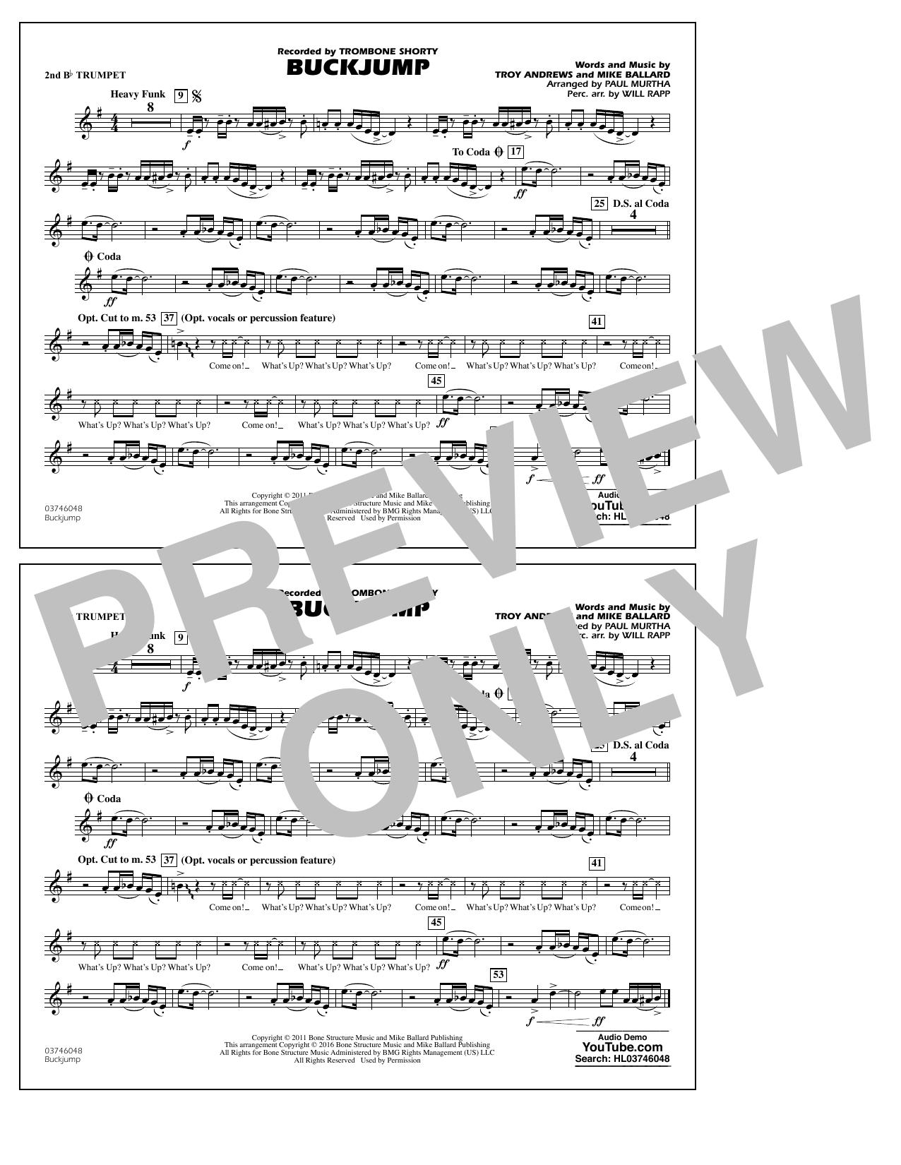 Buckjump - 2nd Bb Trumpet (Marching Band)