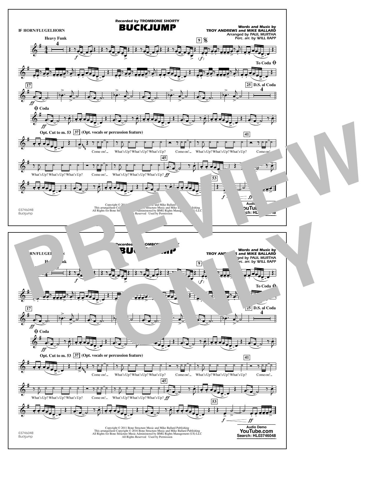 Buckjump - Bb Horn/Flugelhorn (Marching Band)