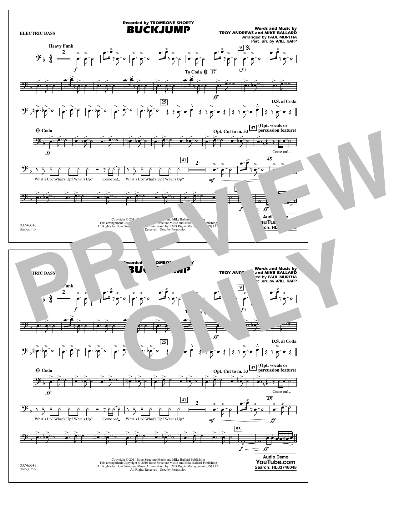 Buckjump - Electric Bass (Marching Band)