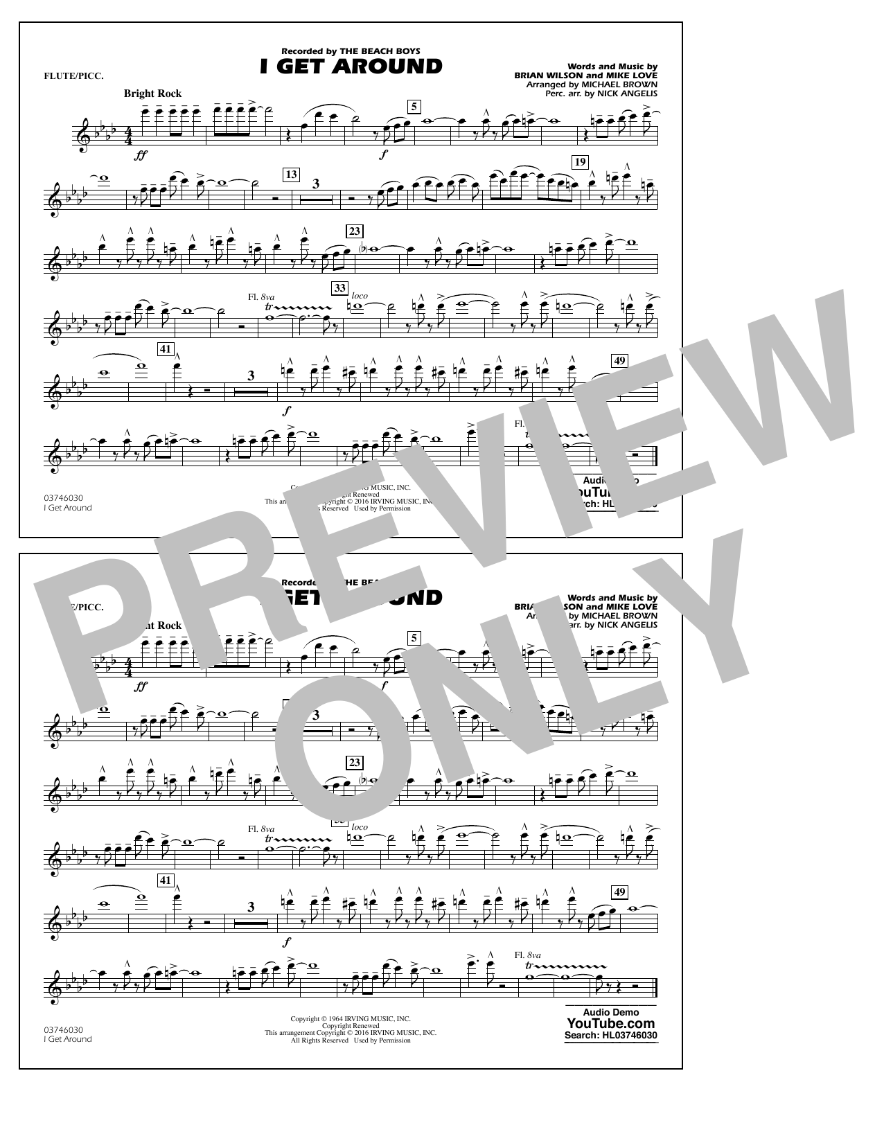 I Get Around - Flute/Piccolo (Marching Band)