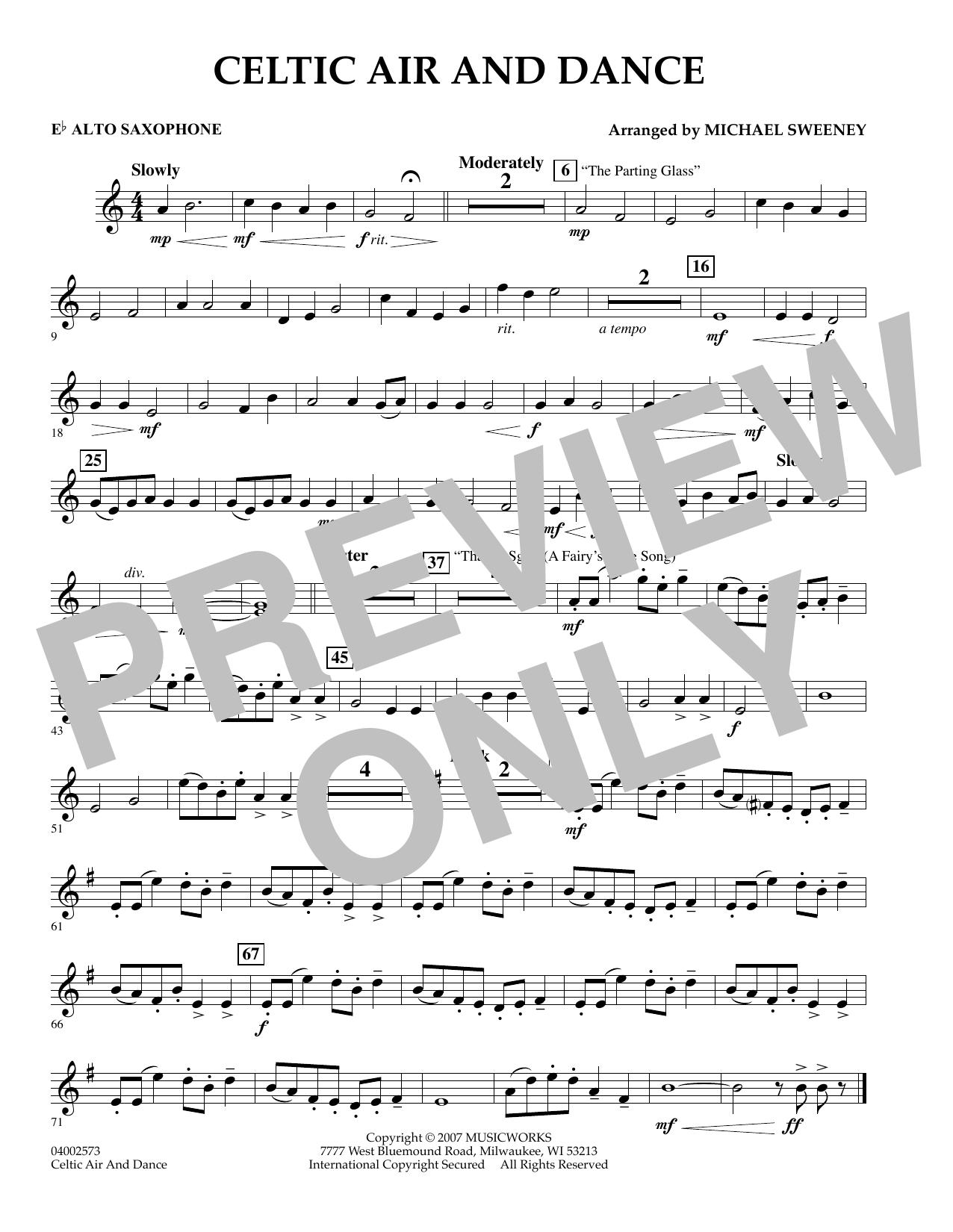 Celtic Air and Dance - Eb Alto Saxophone (Concert Band)