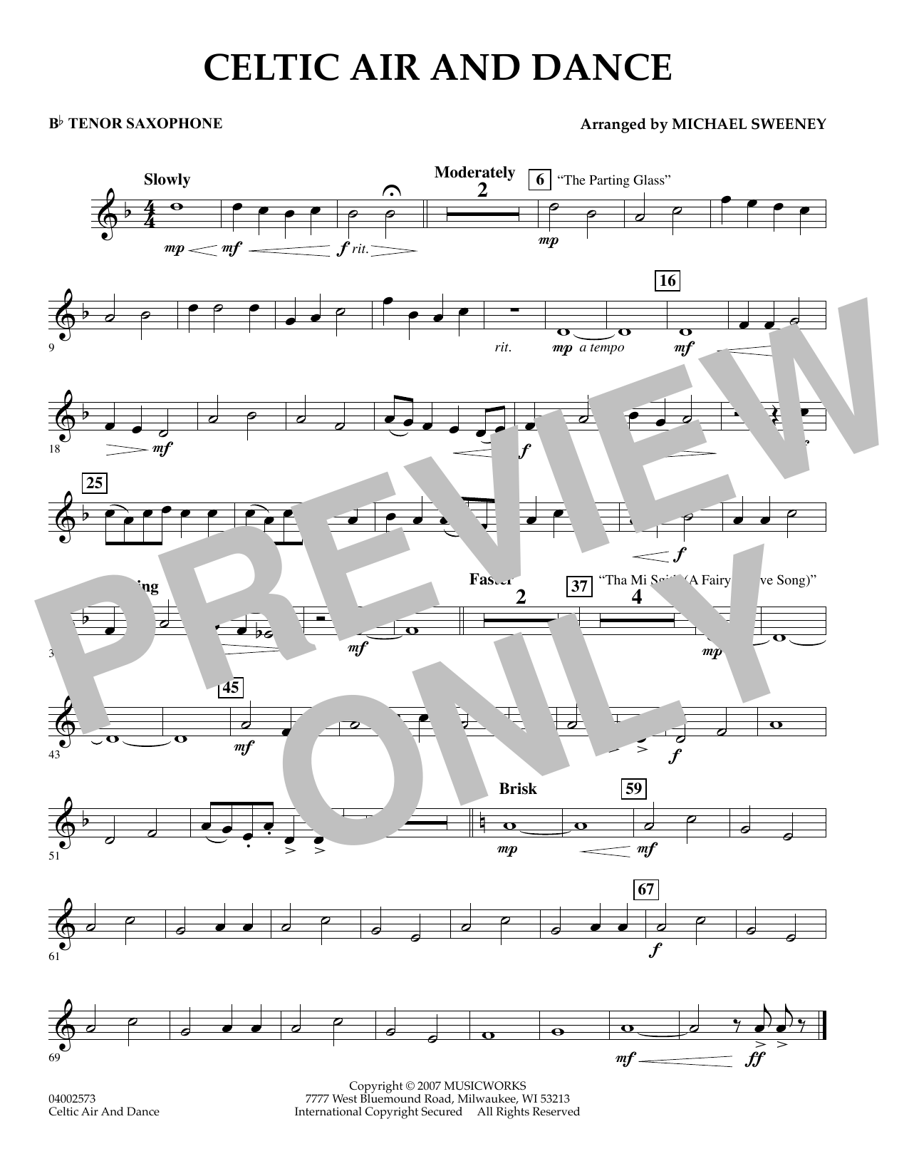 Celtic Air and Dance - Bb Tenor Saxophone (Concert Band)