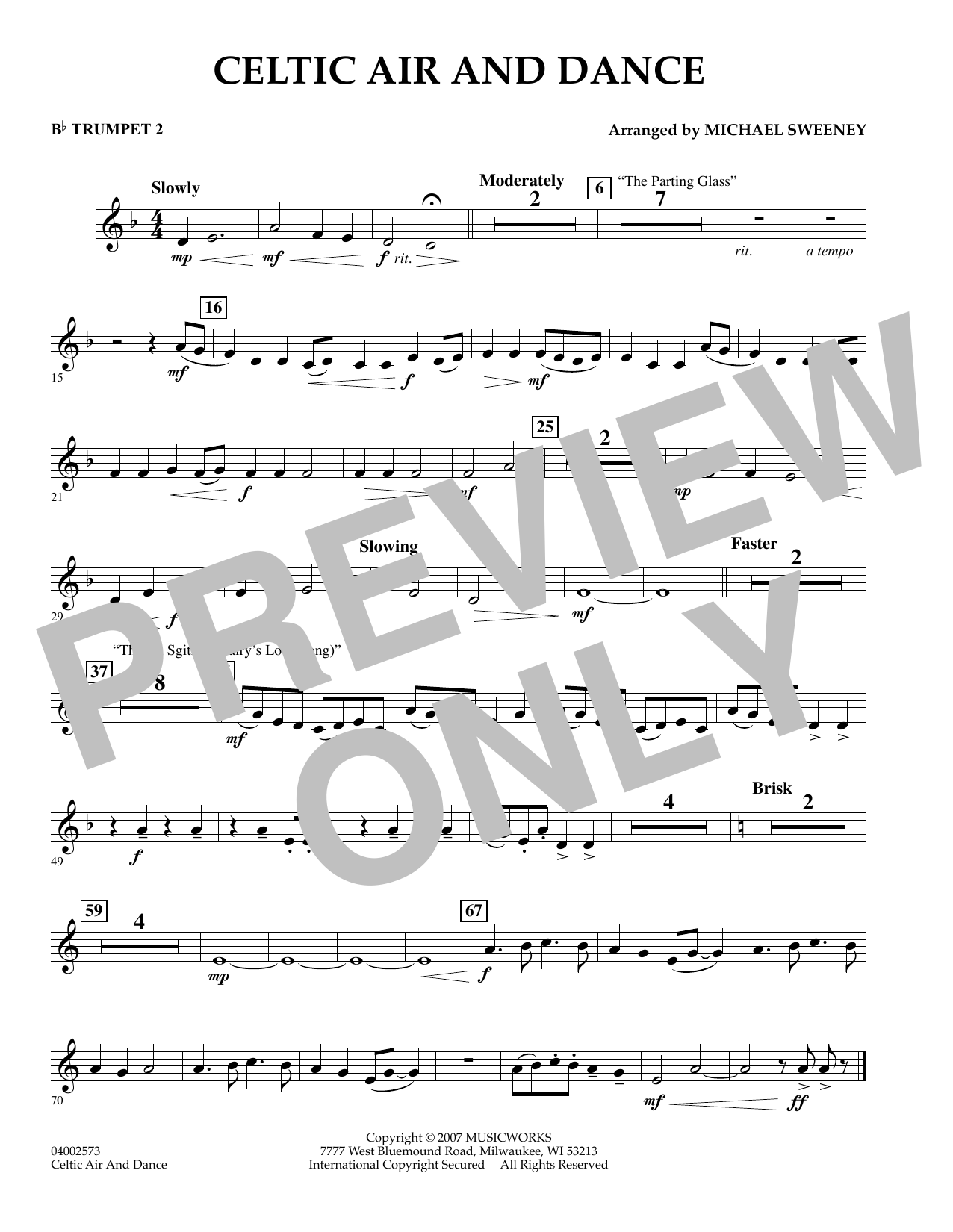 Celtic Air and Dance - Bb Trumpet 2 (Concert Band)