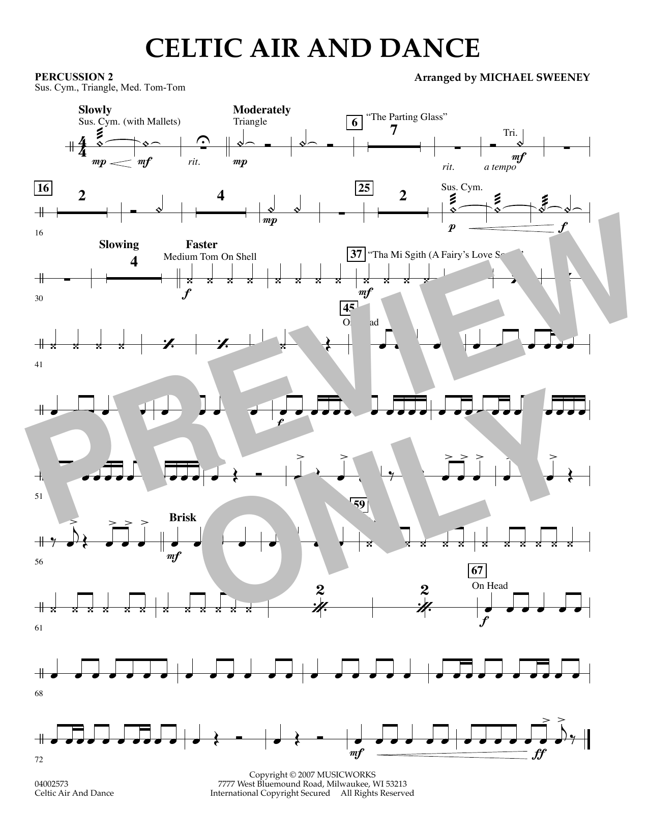 Celtic Air and Dance - Percussion 2 (Concert Band)