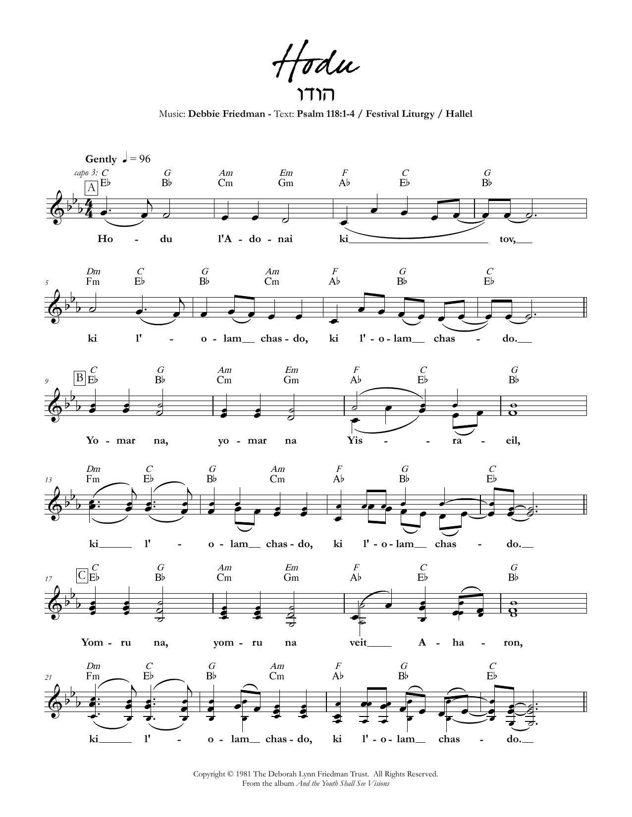 Hodu Sheet Music